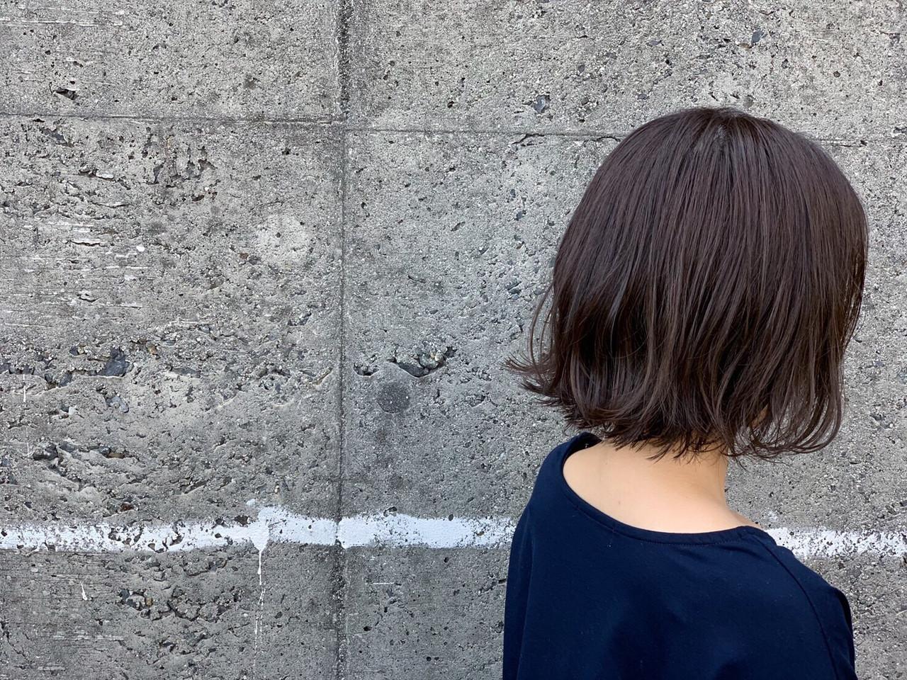 ワンカールスタイリング ミニボブ ボブ 切りっぱなし ヘアスタイルや髪型の写真・画像   イヨマサカズキ / Roots