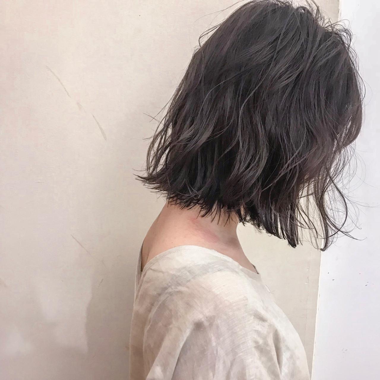 ナチュラル フェミニン 前髪あり ボブ ヘアスタイルや髪型の写真・画像 | yumiko/sapporoSKNOW / SKNOW