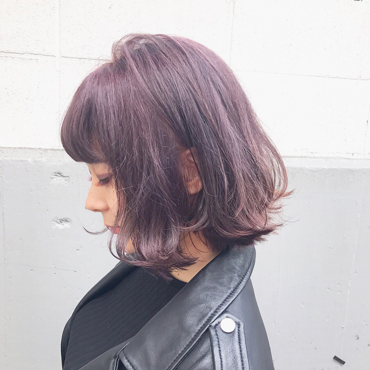 色気 ボブ ニュアンス ハイライト ヘアスタイルや髪型の写真・画像 | 落合 健二 / hair ales