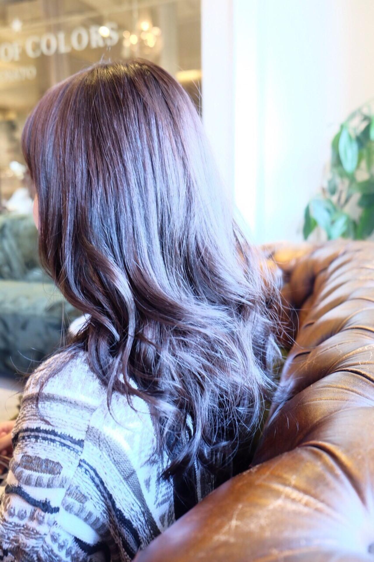 アッシュ ロング ナチュラル ラベンダー ヘアスタイルや髪型の写真・画像 | 高桑 流星 / ALEXANDRE OF COLORS