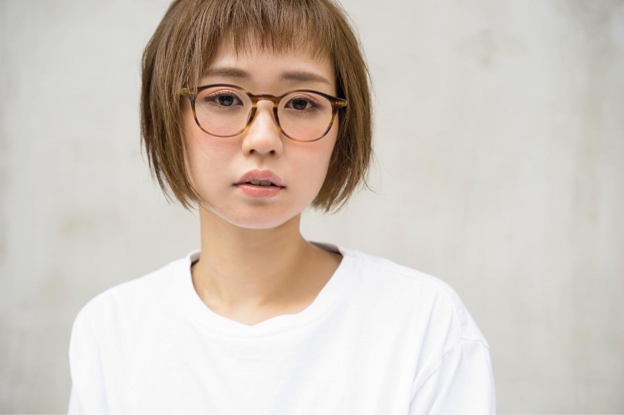 似合わせ ナチュラル ショート ボブ ヘアスタイルや髪型の写真・画像 | 黒崎伸治 / BLANC