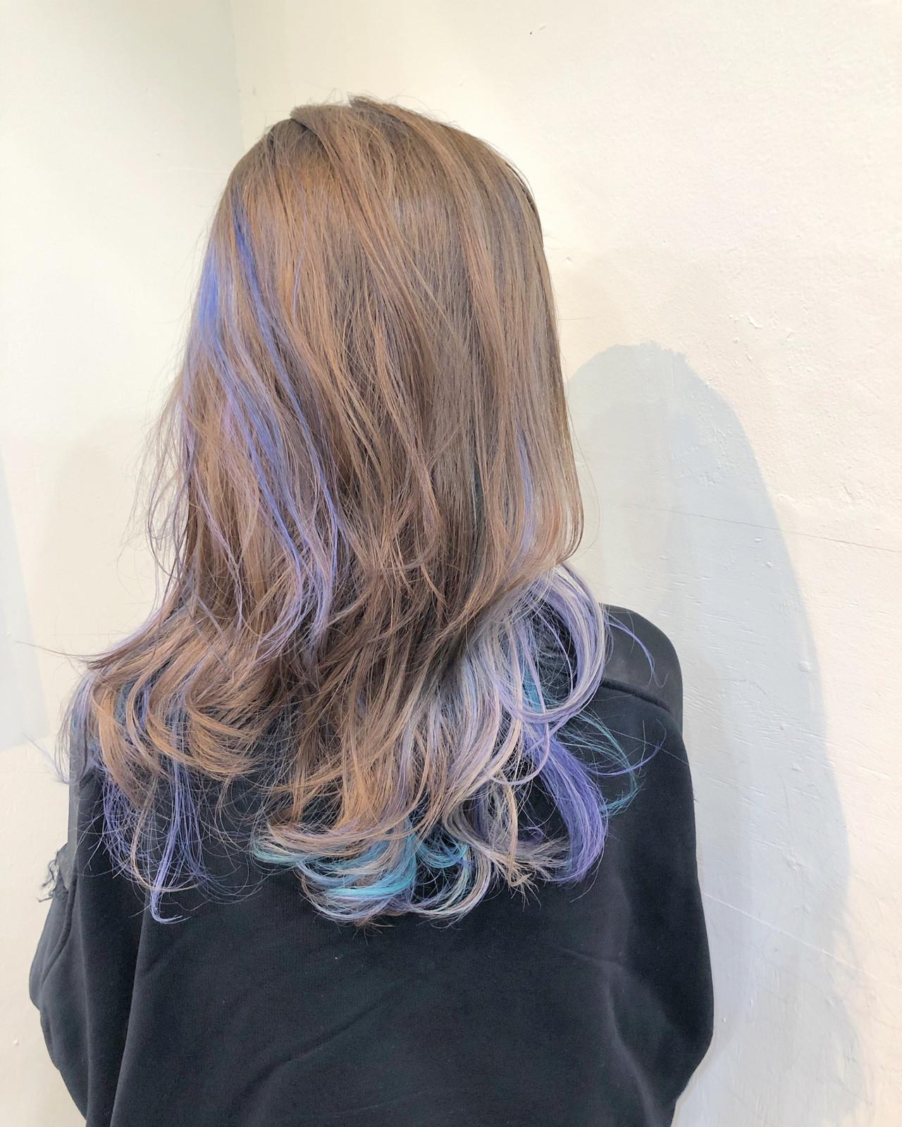 ハイライト ナチュラル バレイヤージュ グラデーションカラー ヘアスタイルや髪型の写真・画像 | RUMINA //高田ゆみこ / Rumina