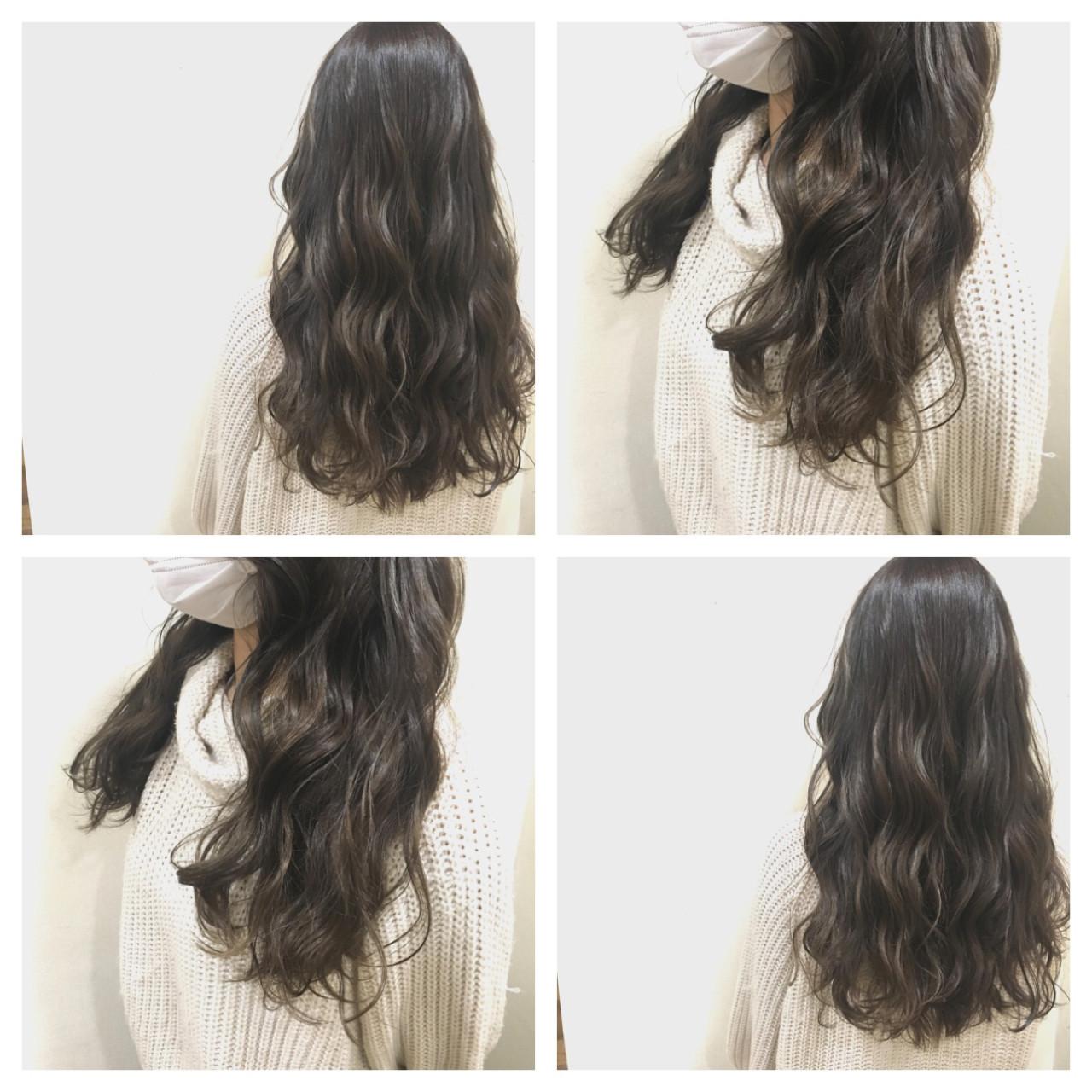 セミロング 外国人風カラー アッシュ グレージュ ヘアスタイルや髪型の写真・画像   籔本 英吾 / hair Mission