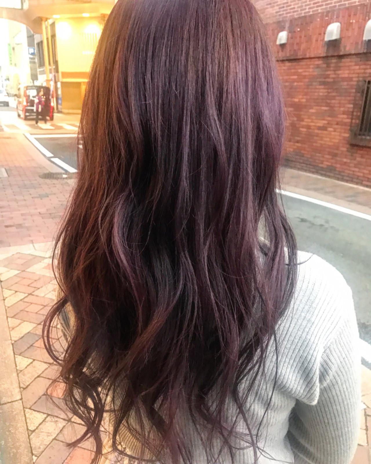 秋 ガーリー ラベンダーピンク 透明感 ヘアスタイルや髪型の写真・画像 | 井上瑛絵 / vicushair