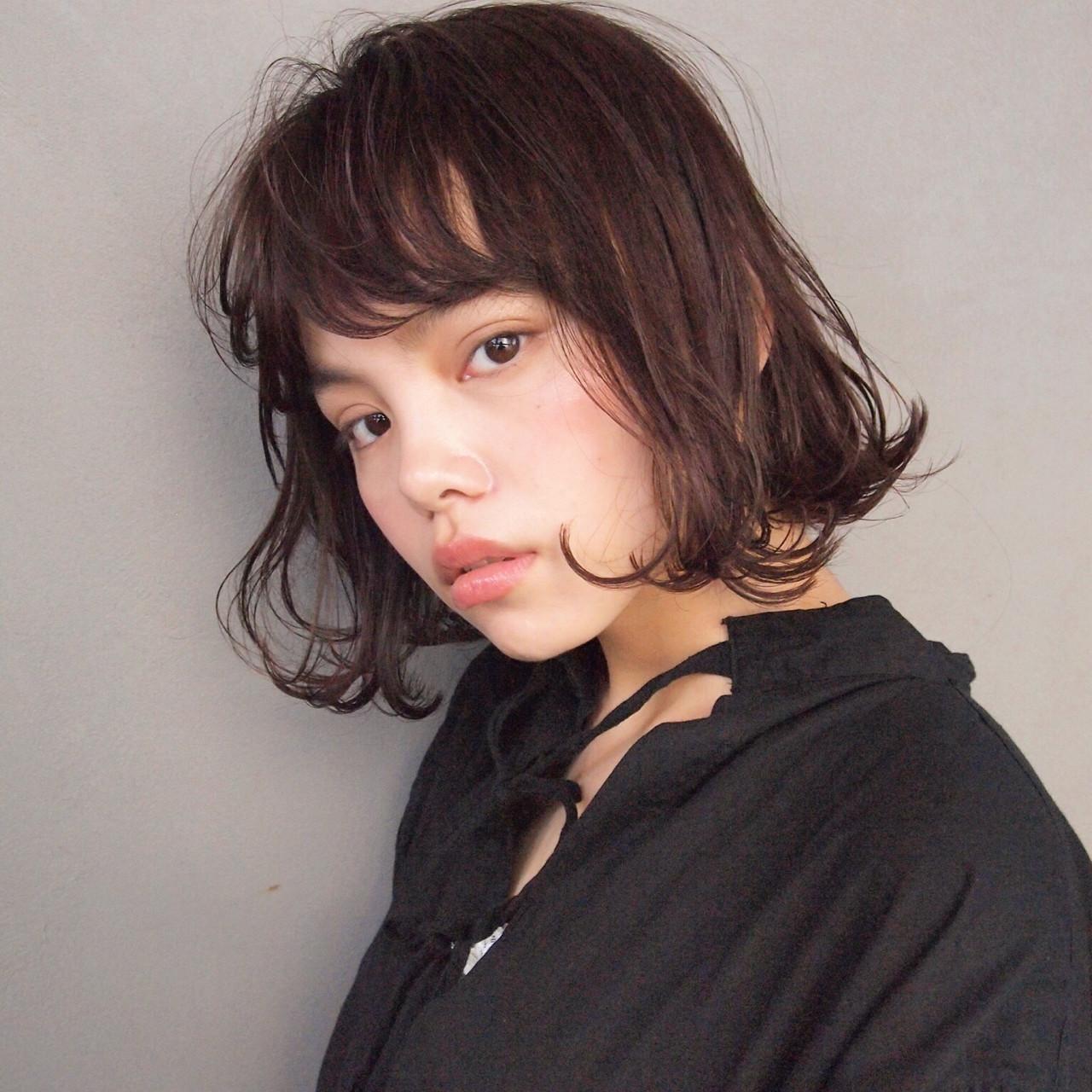 ボブ ウェットヘア 前下がり ナチュラル ヘアスタイルや髪型の写真・画像 | UEKI/nanuk / nanuk二子玉川