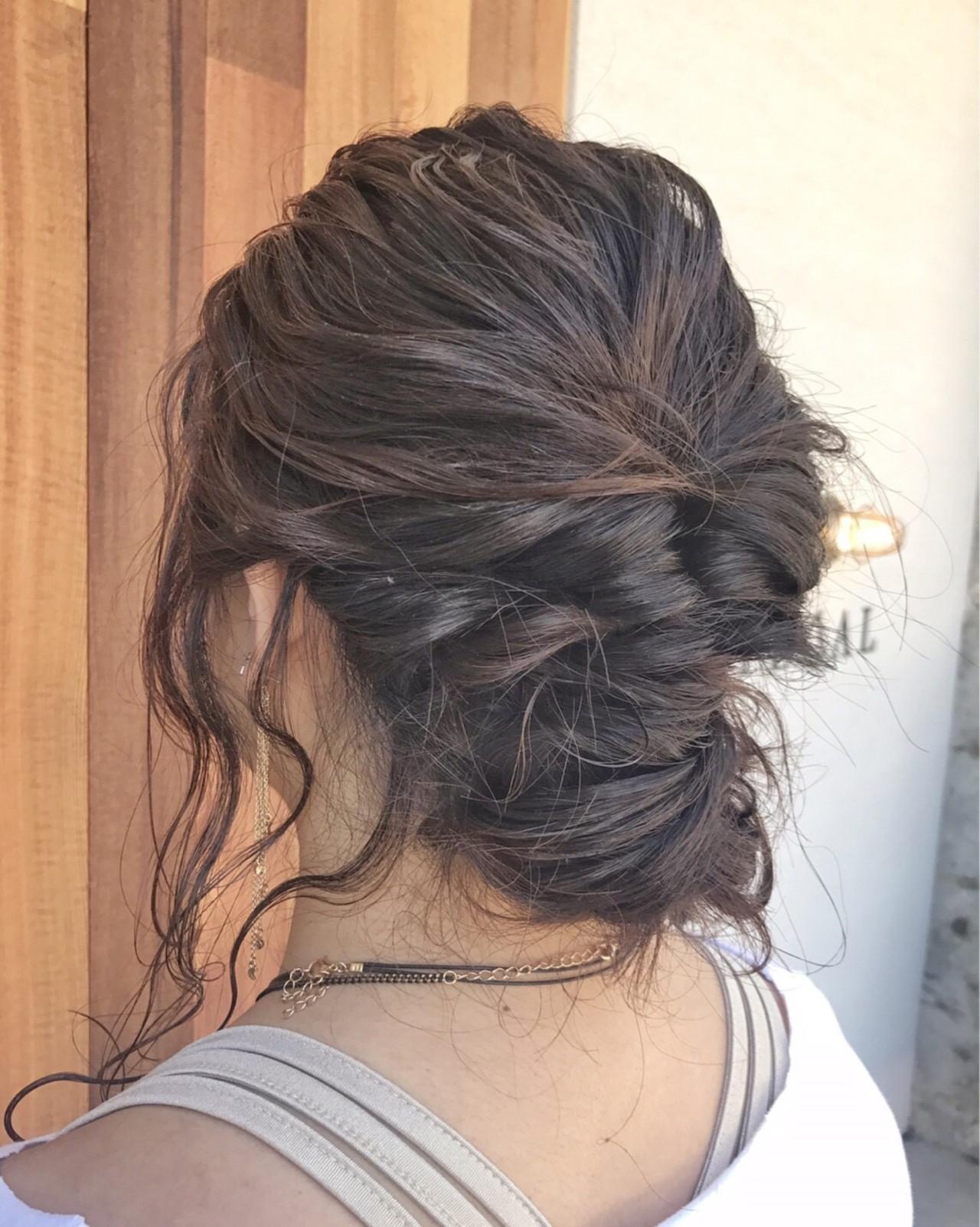 エレガント ヘアアレンジ 女子会 結婚式 ヘアスタイルや髪型の写真・画像 | PEDAL / PEDAL