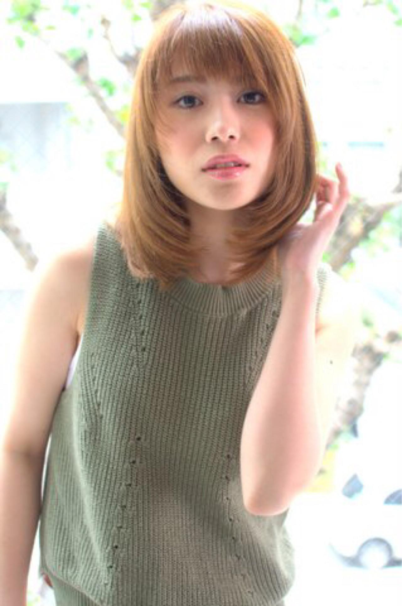 大人女子 ワンカール ストレート ナチュラル ヘアスタイルや髪型の写真・画像 | 佐伯 直哉 / air-KOBE