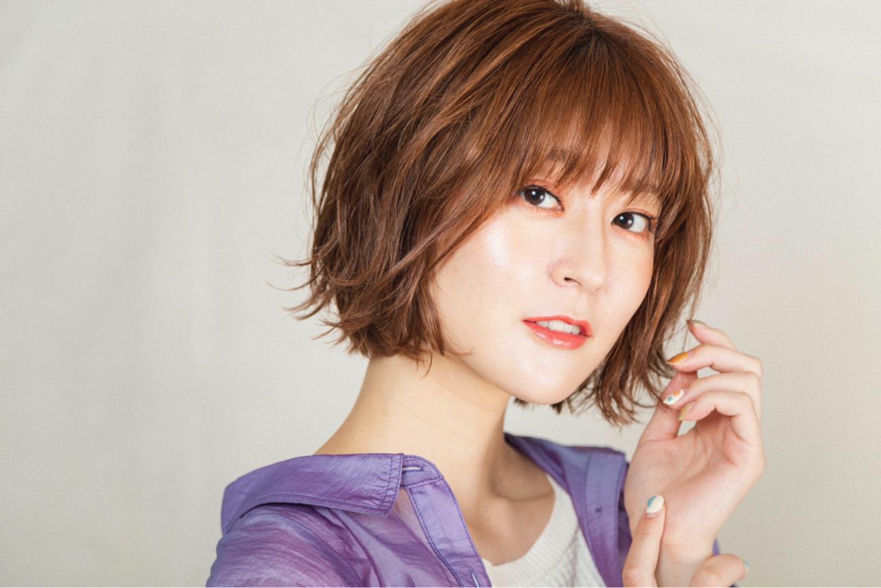 ショートヘア ボブ ミニボブ 切りっぱなしボブ ヘアスタイルや髪型の写真・画像 | 國武泰志 / Cloe