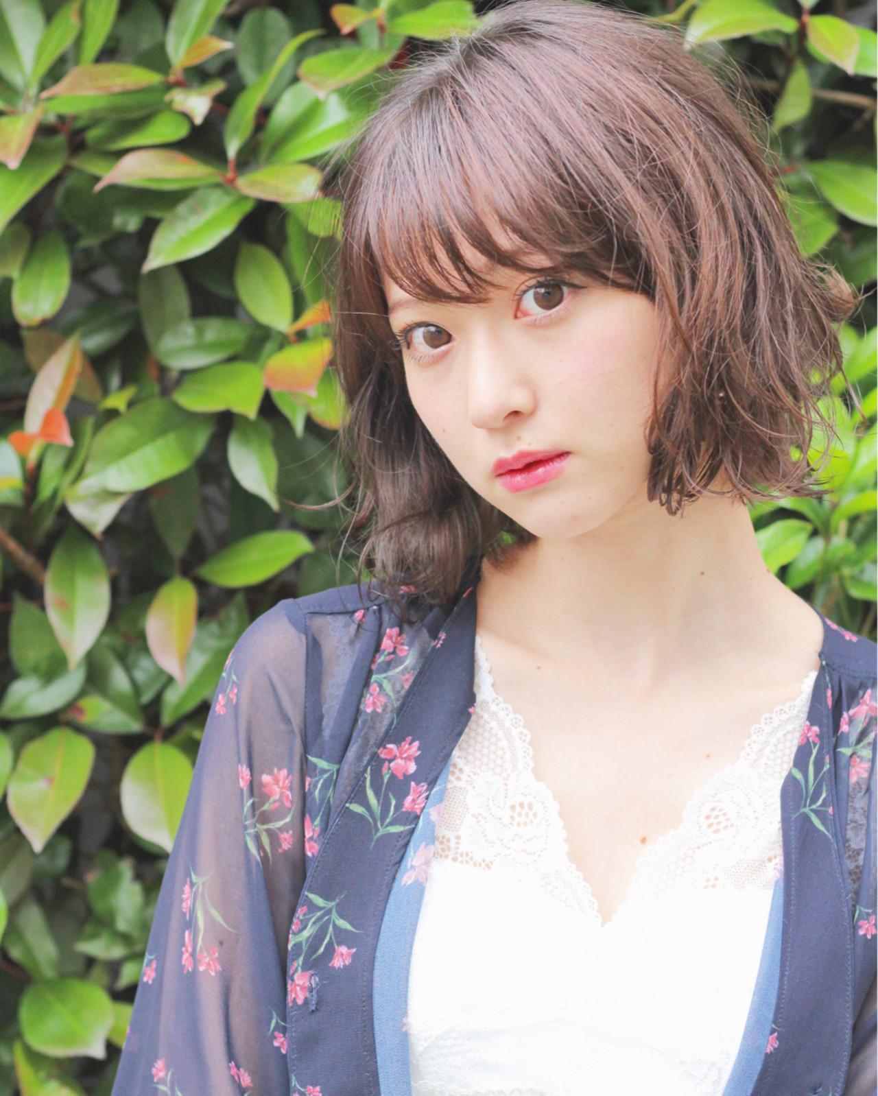 ボブ デート 女子会 ナチュラル ヘアスタイルや髪型の写真・画像 | Wataru Maeda / cache cache