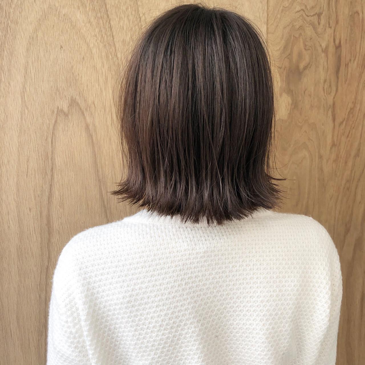 ボブ 切りっぱなしボブ 外ハネボブ ミニボブ ヘアスタイルや髪型の写真・画像 | 松井勇樹 / TWiGGY  歩行町店