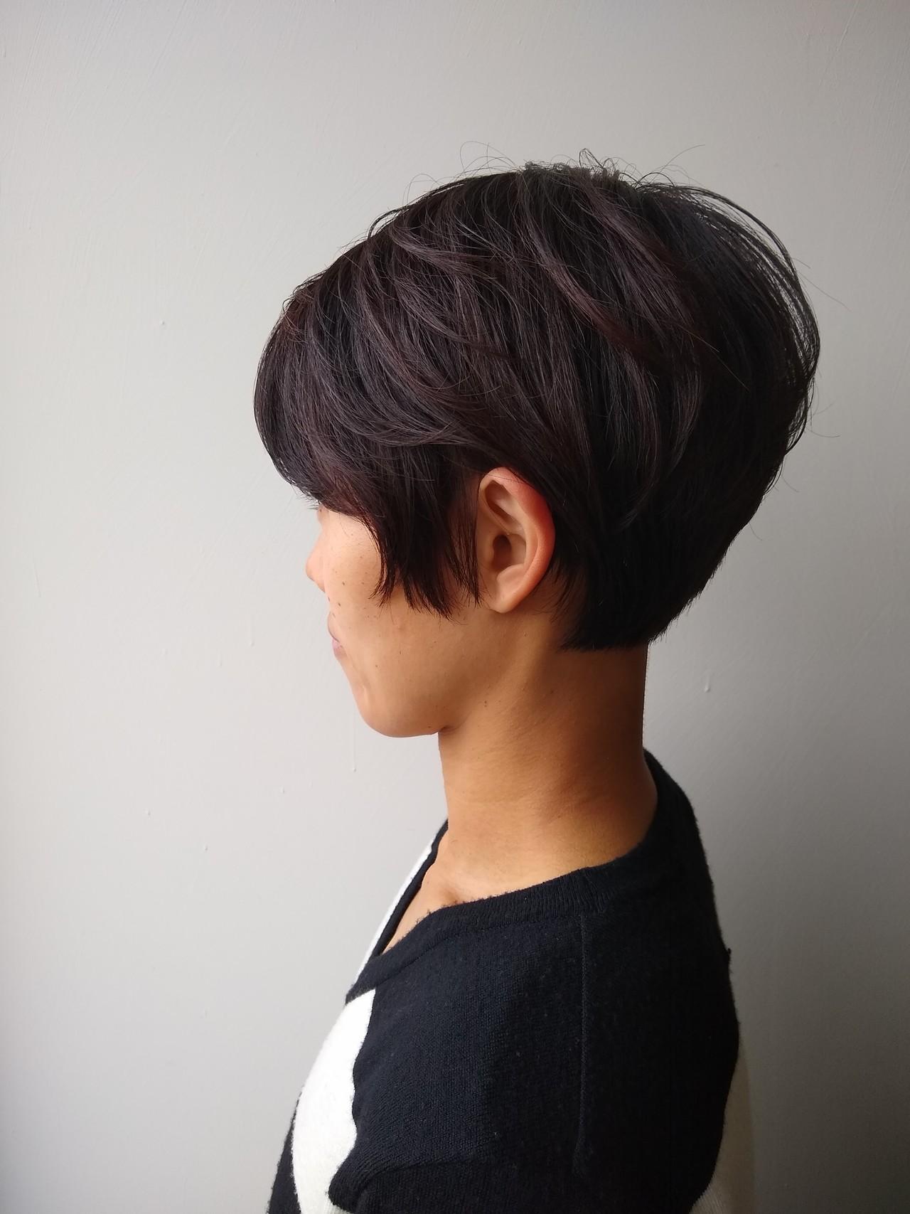 ナチュラル ショートボブ マッシュ ボブ ヘアスタイルや髪型の写真・画像   北野陽平 / holm hair