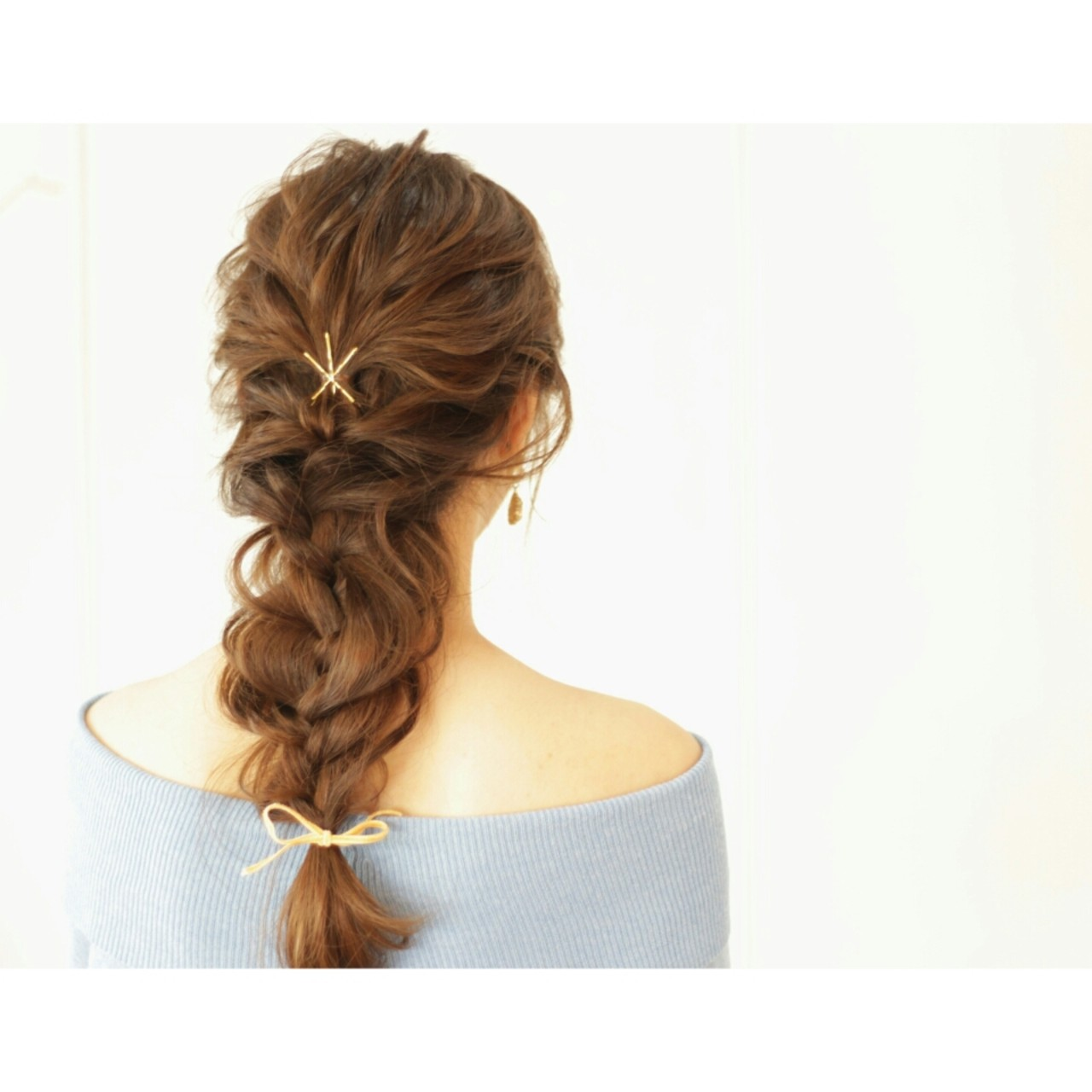 ヘアアクセ ヘアピン フェミニン ヘアアレンジ ヘアスタイルや髪型の写真・画像 | 福原 慶之 / intimhair