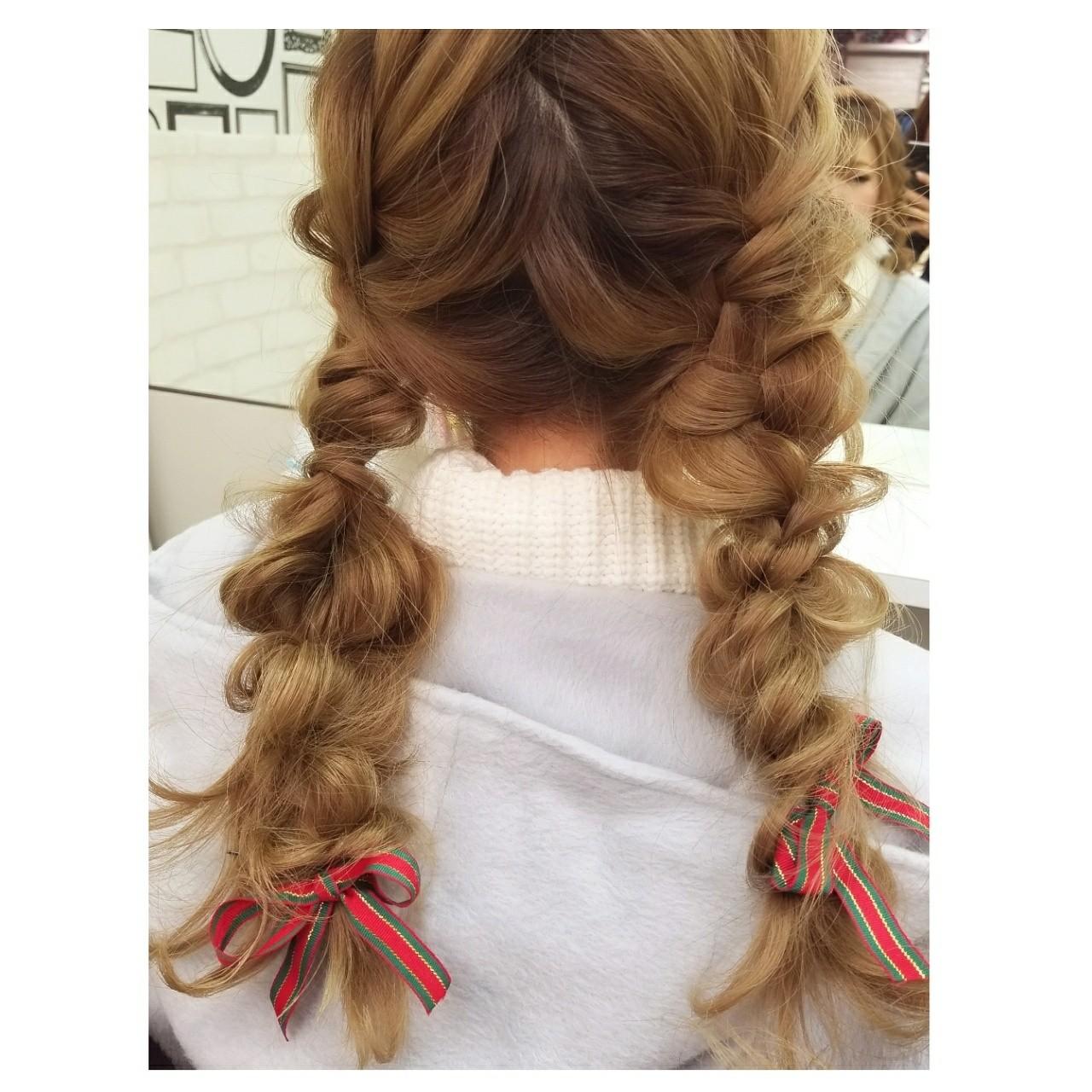 ガーリー 成人式 ヘアアレンジ 謝恩会ヘアスタイルや髪型の写真・画像