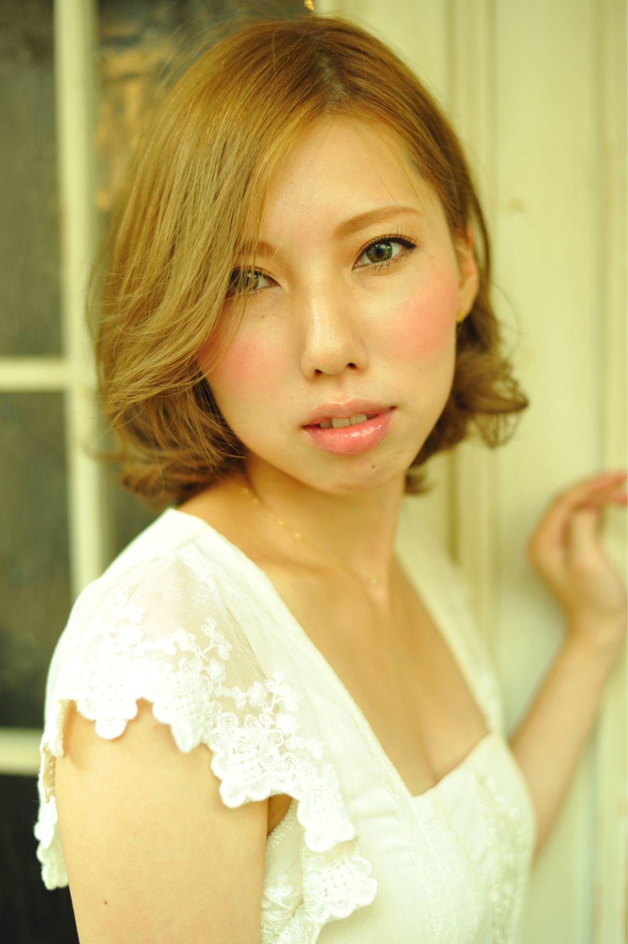 ストレート ナチュラル ミディアム モテ髪 ヘアスタイルや髪型の写真・画像 | 江田 有希 / 下北沢LOAWe