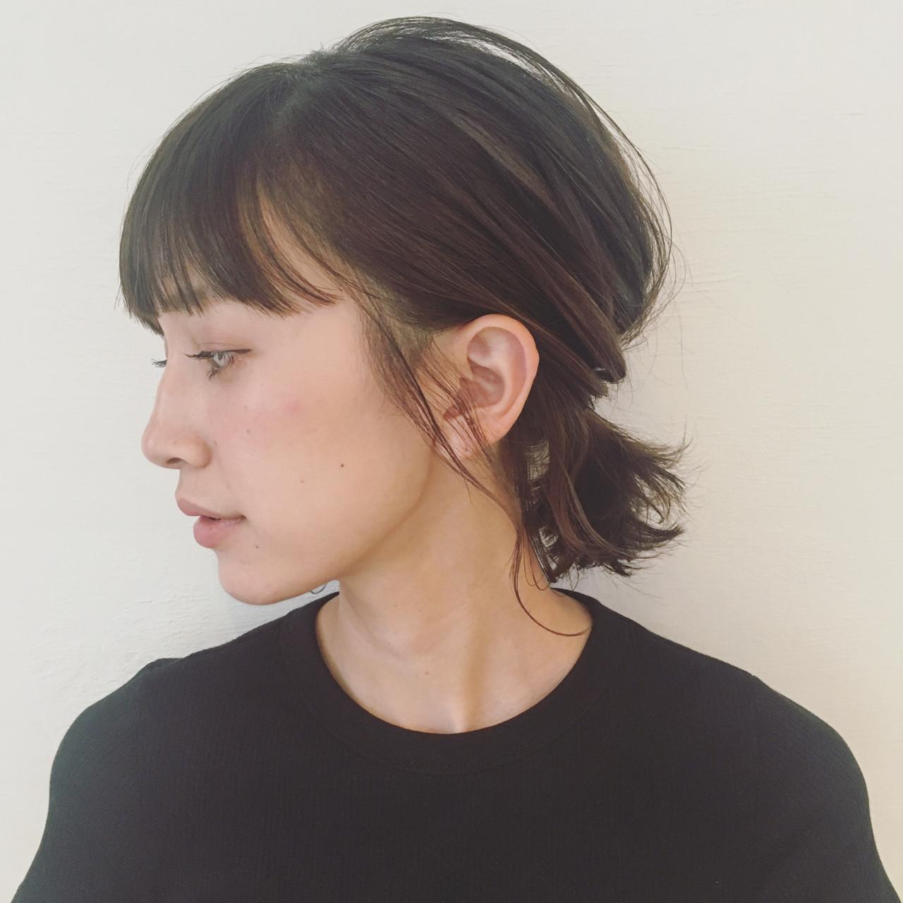 インナーカラー 簡単ヘアアレンジ ヘアアレンジ 涼しげヘアスタイルや髪型の写真・画像