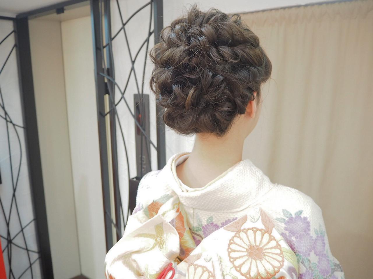 ヘアアレンジ くるりんぱ ミディアム 編み込み ヘアスタイルや髪型の写真・画像 | 宮迫 真美 / airfeel