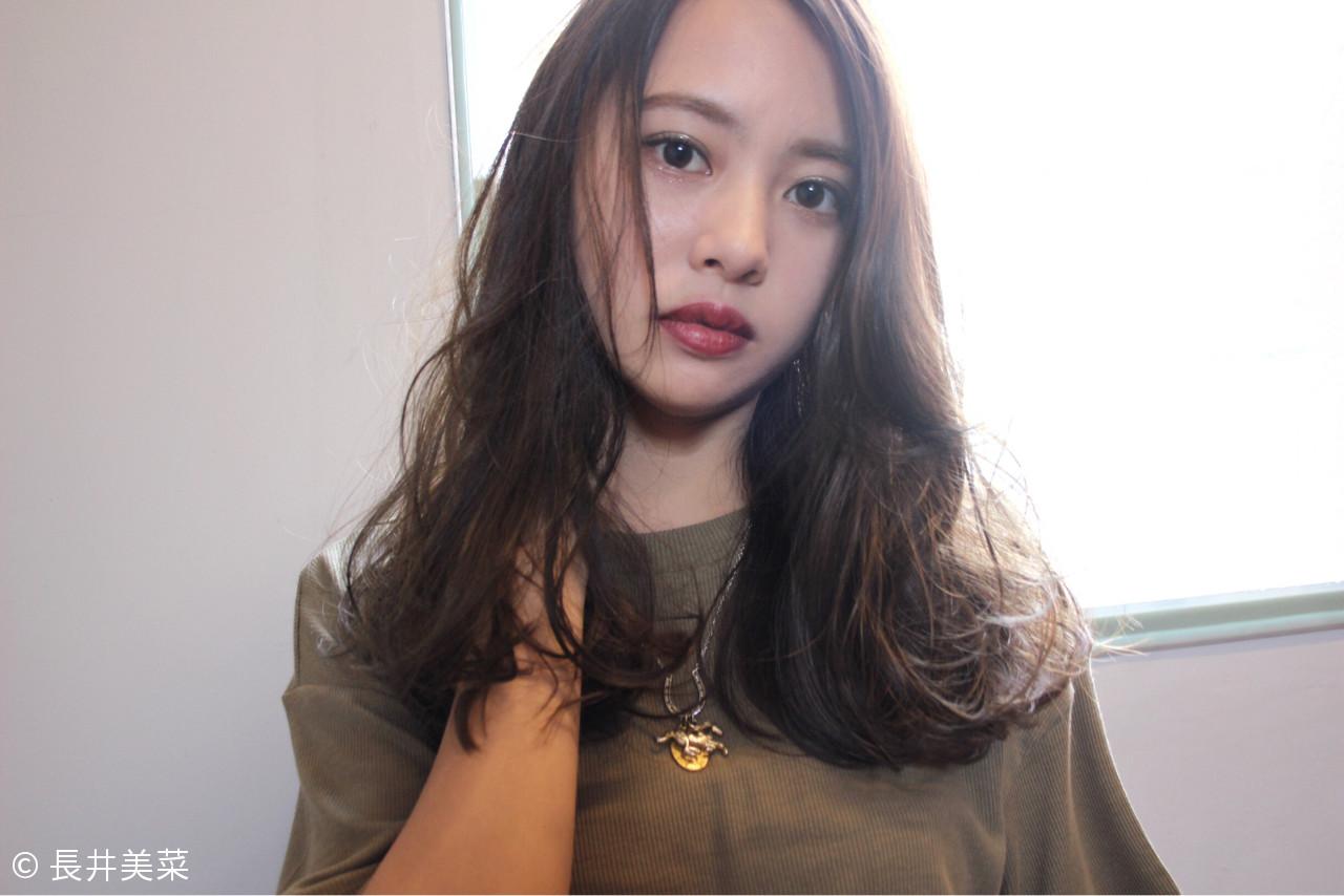 大人女子 ロング ハイライト 小顔ヘアスタイルや髪型の写真・画像