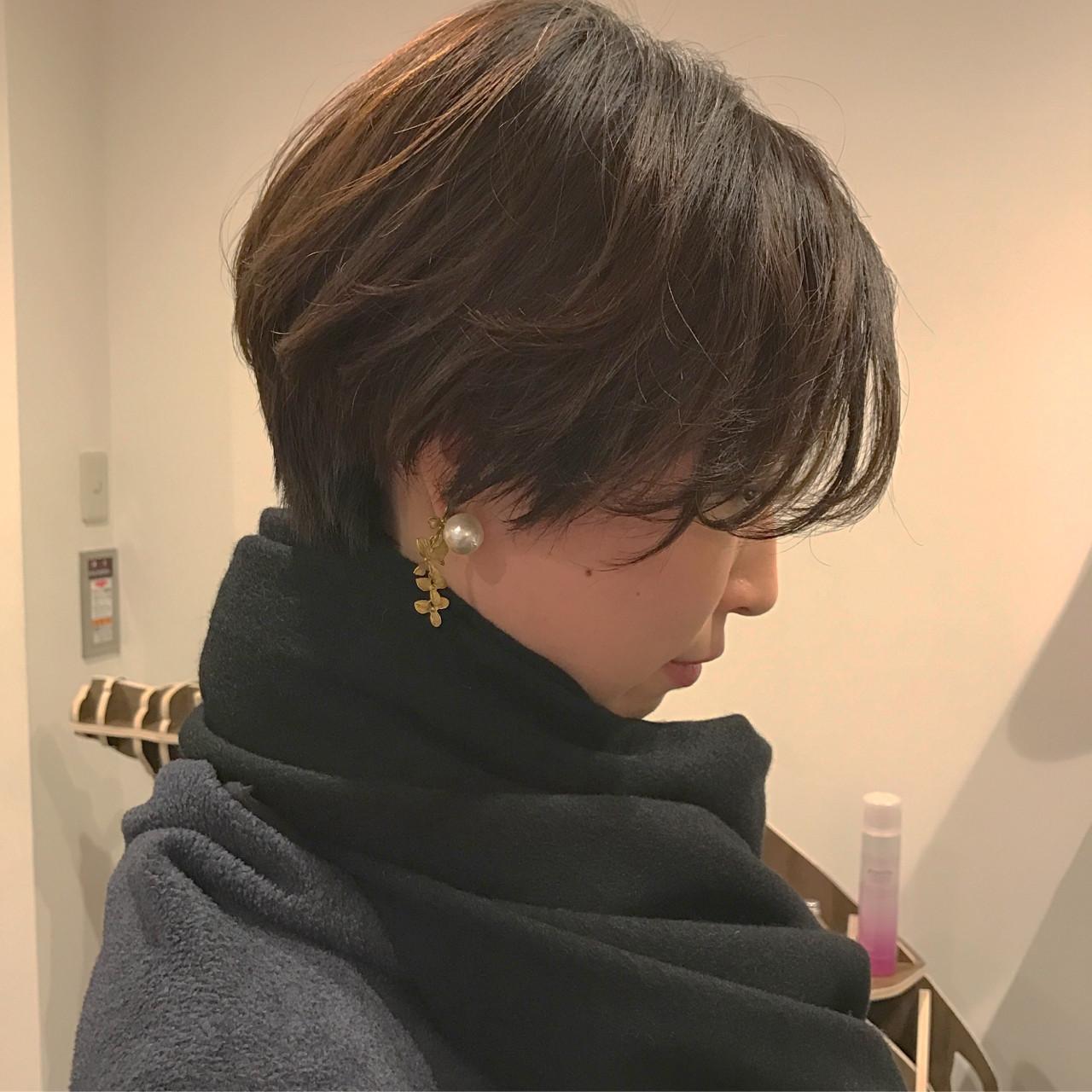 前髪あり ショート ナチュラル 黒髪 ヘアスタイルや髪型の写真・画像 | 藤山将太 / ROSTAR
