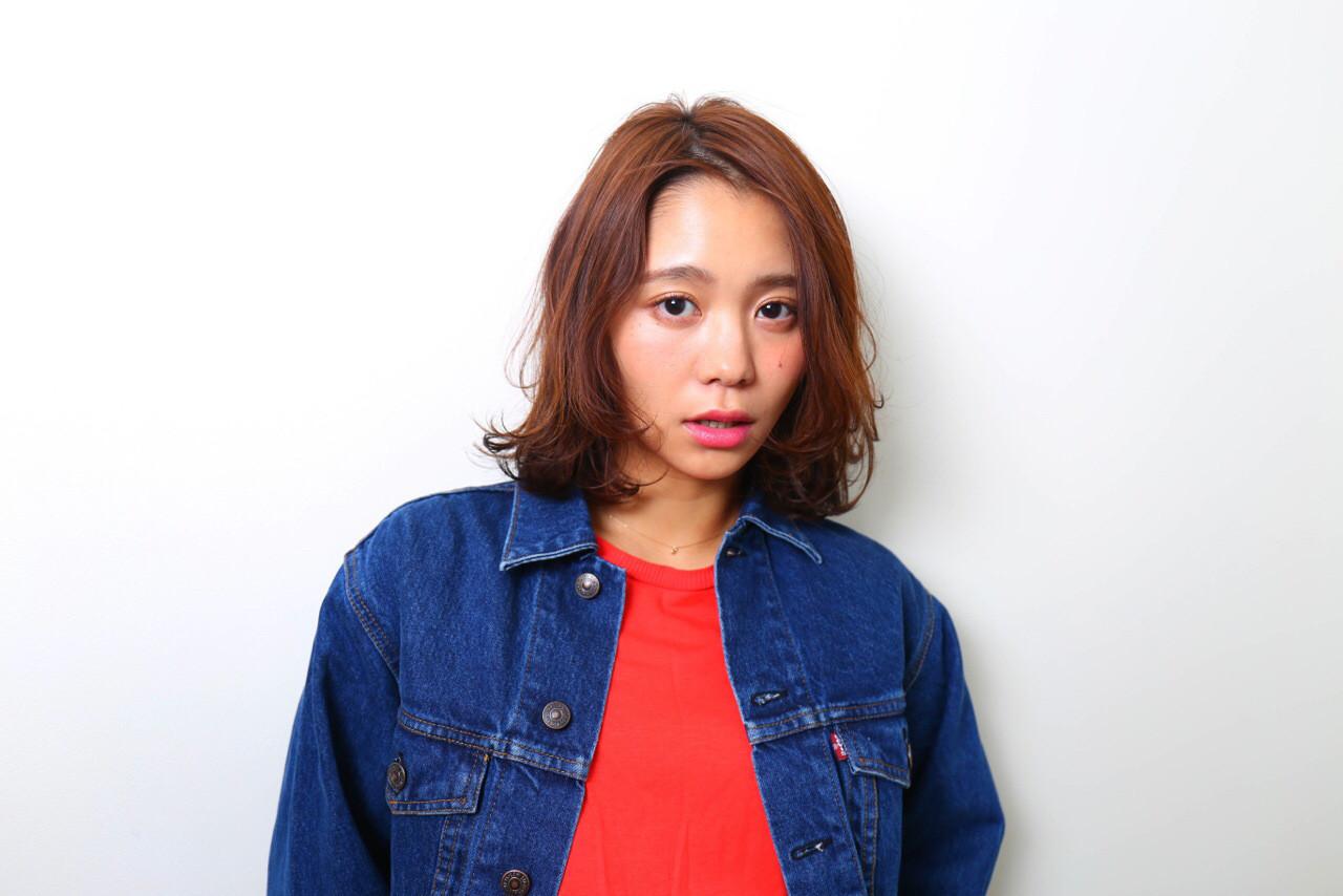 かわいい ミディアム こなれ感 ナチュラル ヘアスタイルや髪型の写真・画像 | Madoka / hair&make / CYANDELUCCA