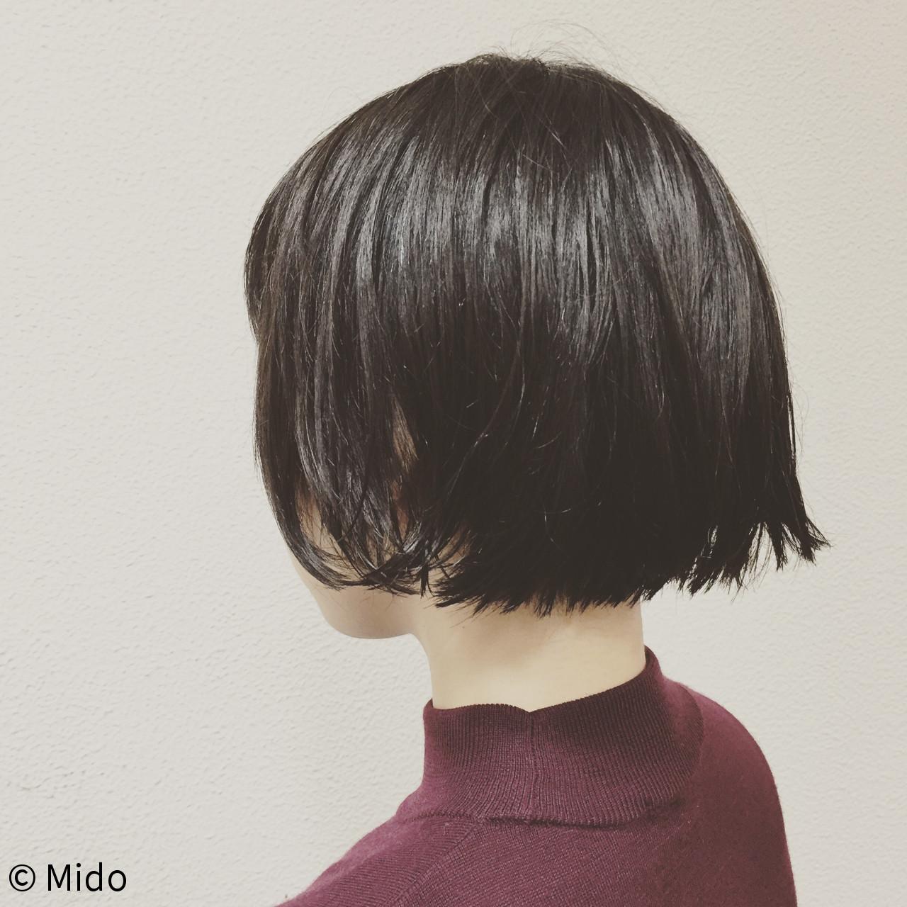 黒髪 こなれ感 ナチュラル 小顔 ヘアスタイルや髪型の写真・画像 | Mido / EFFORT