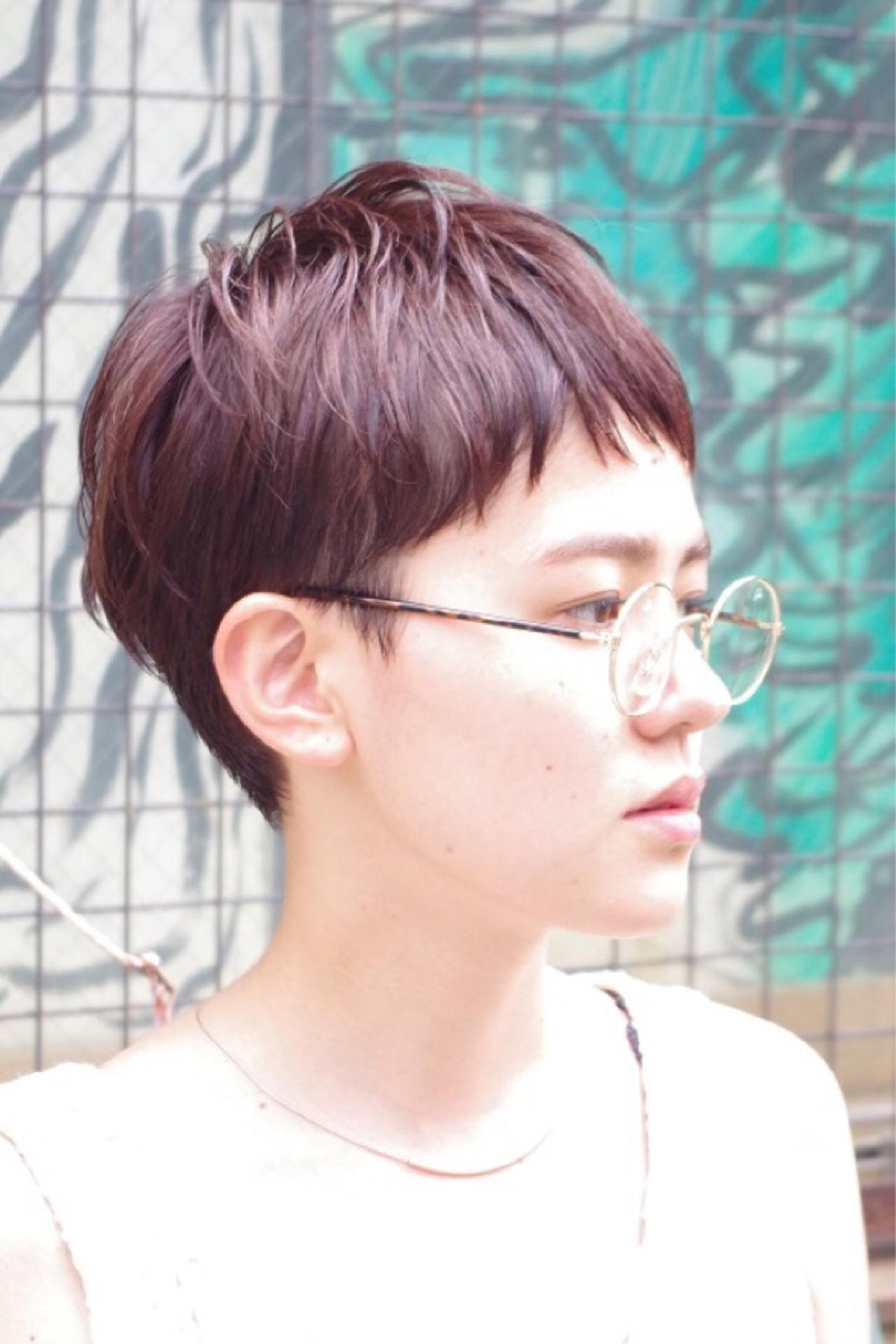 ハイライト ショート ピュア ウェットヘア ヘアスタイルや髪型の写真・画像 | Nao Kokubun blast / blast