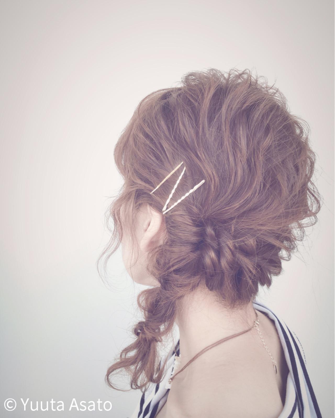 ゆるふわ 大人かわいい 夏 簡単ヘアアレンジヘアスタイルや髪型の写真・画像