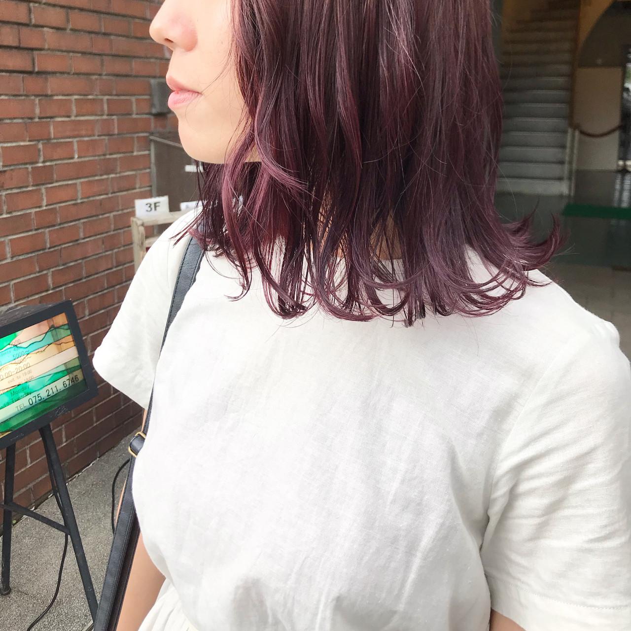 ラベンダーピンク ナチュラル ピンク ベリーピンク ヘアスタイルや髪型の写真・画像 | 難波大和 / fon