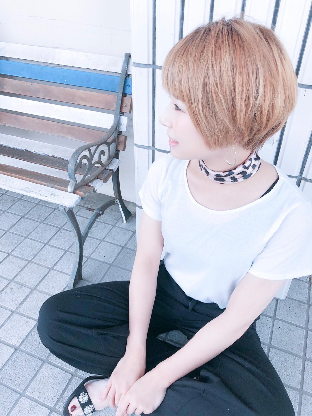 ハンサムショート ショートヘア ショート ショートボブ ヘアスタイルや髪型の写真・画像 | 北川友理 / unsung