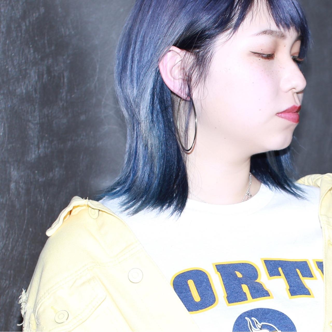 ミディアム 外国人風カラー ラベンダー ダブルカラー ヘアスタイルや髪型の写真・画像 | イマムラ スナオ / LUKE
