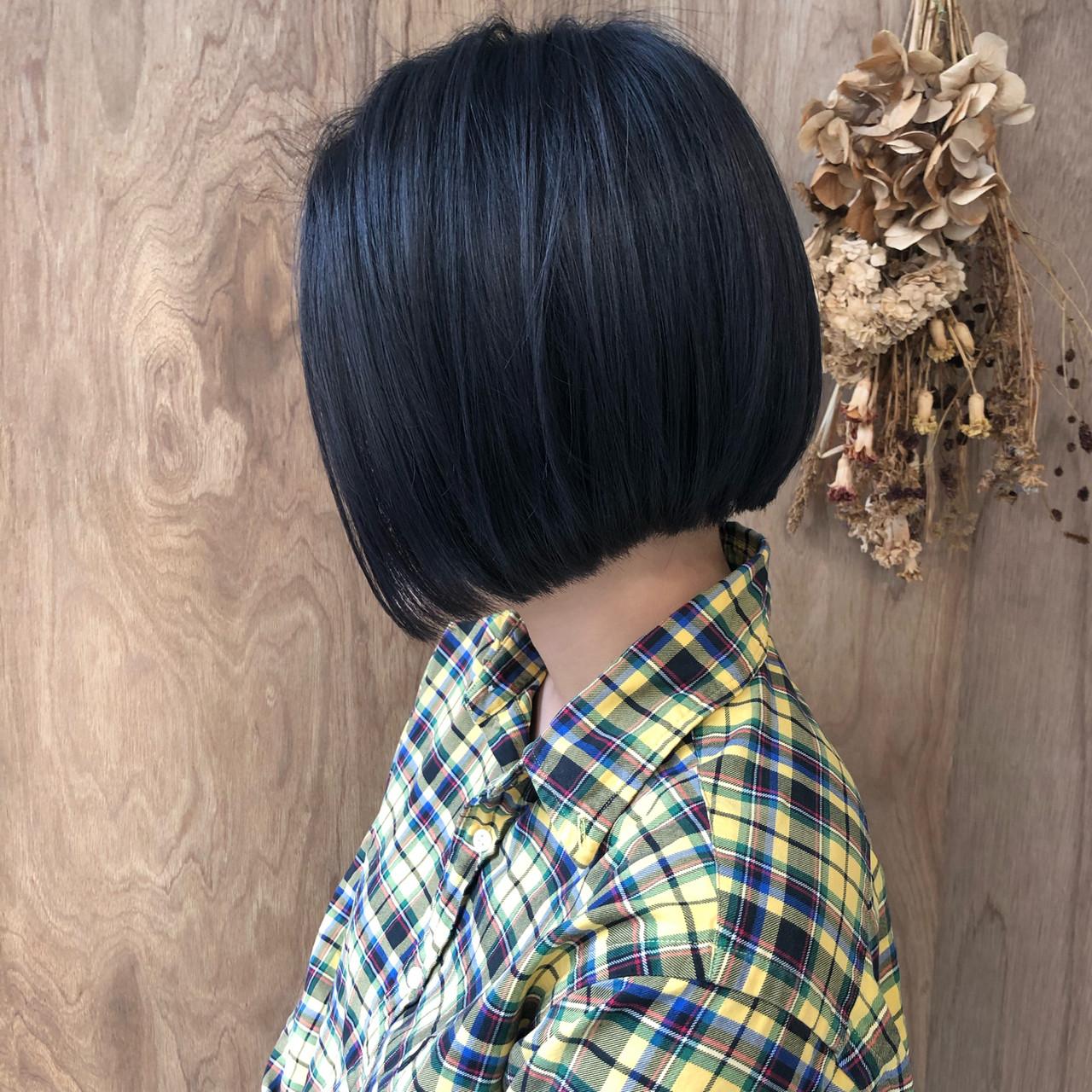 ミニボブ 切りっぱなしボブ 外ハネボブ モード ヘアスタイルや髪型の写真・画像 | 松井勇樹 / TWiGGY  歩行町店