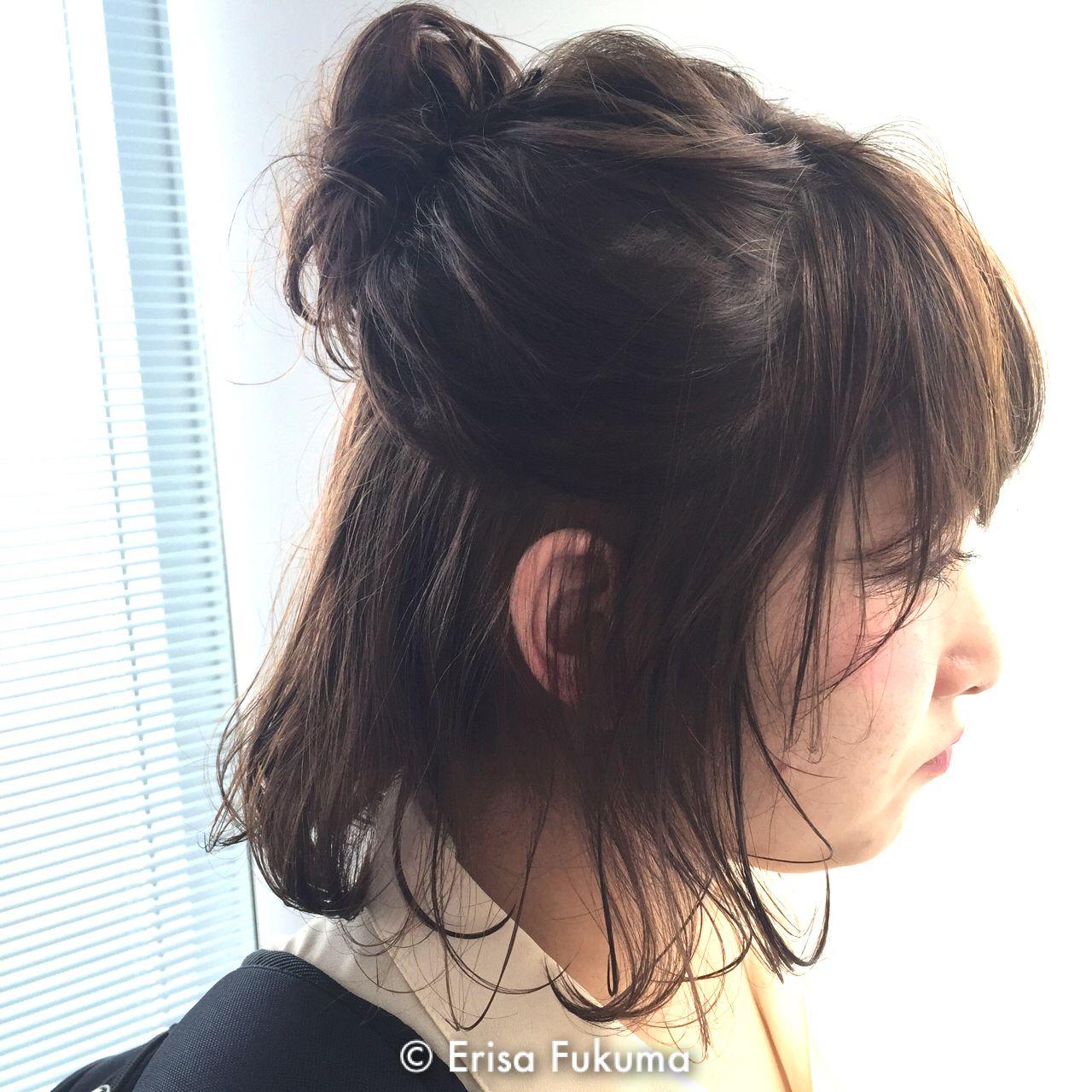ルーズ 簡単ヘアアレンジ ヘアアレンジ ストリートヘアスタイルや髪型の写真・画像