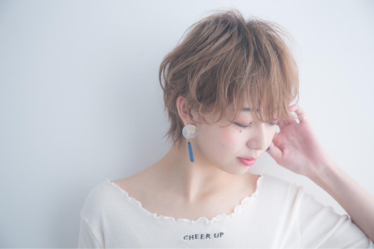小顔 ショート アンニュイ ショートボブ ヘアスタイルや髪型の写真・画像   羽田ひろむ / LAiLY  by  GARDEN