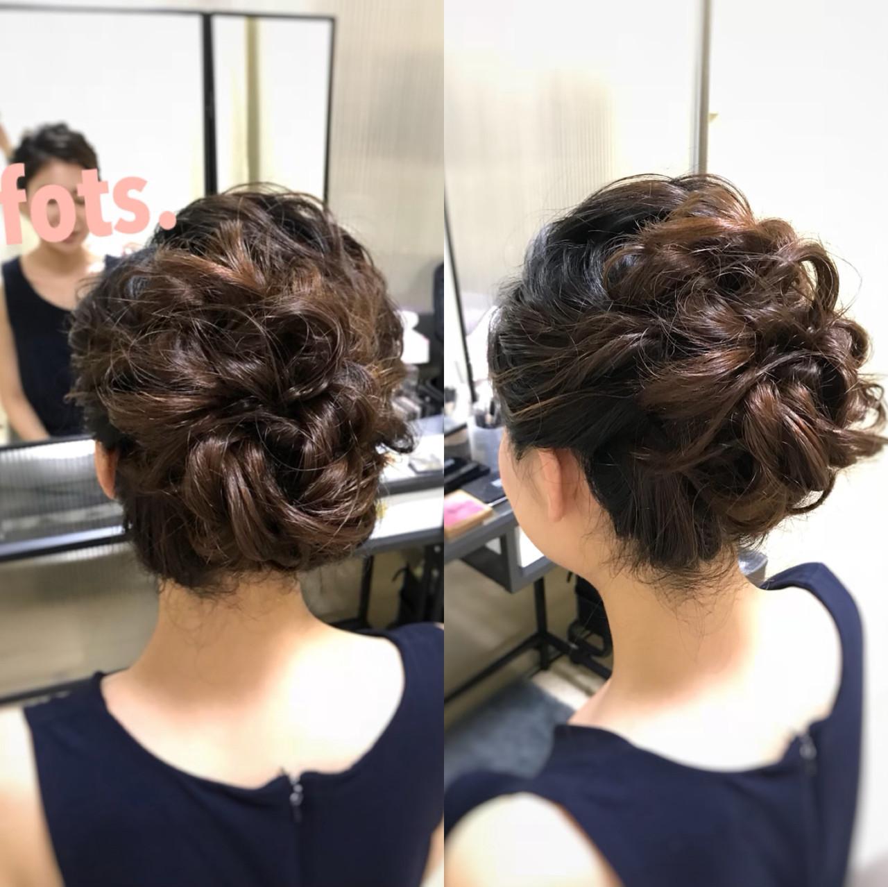 ふわふわ エレガント イベント パーティヘアヘアスタイルや髪型の写真・画像