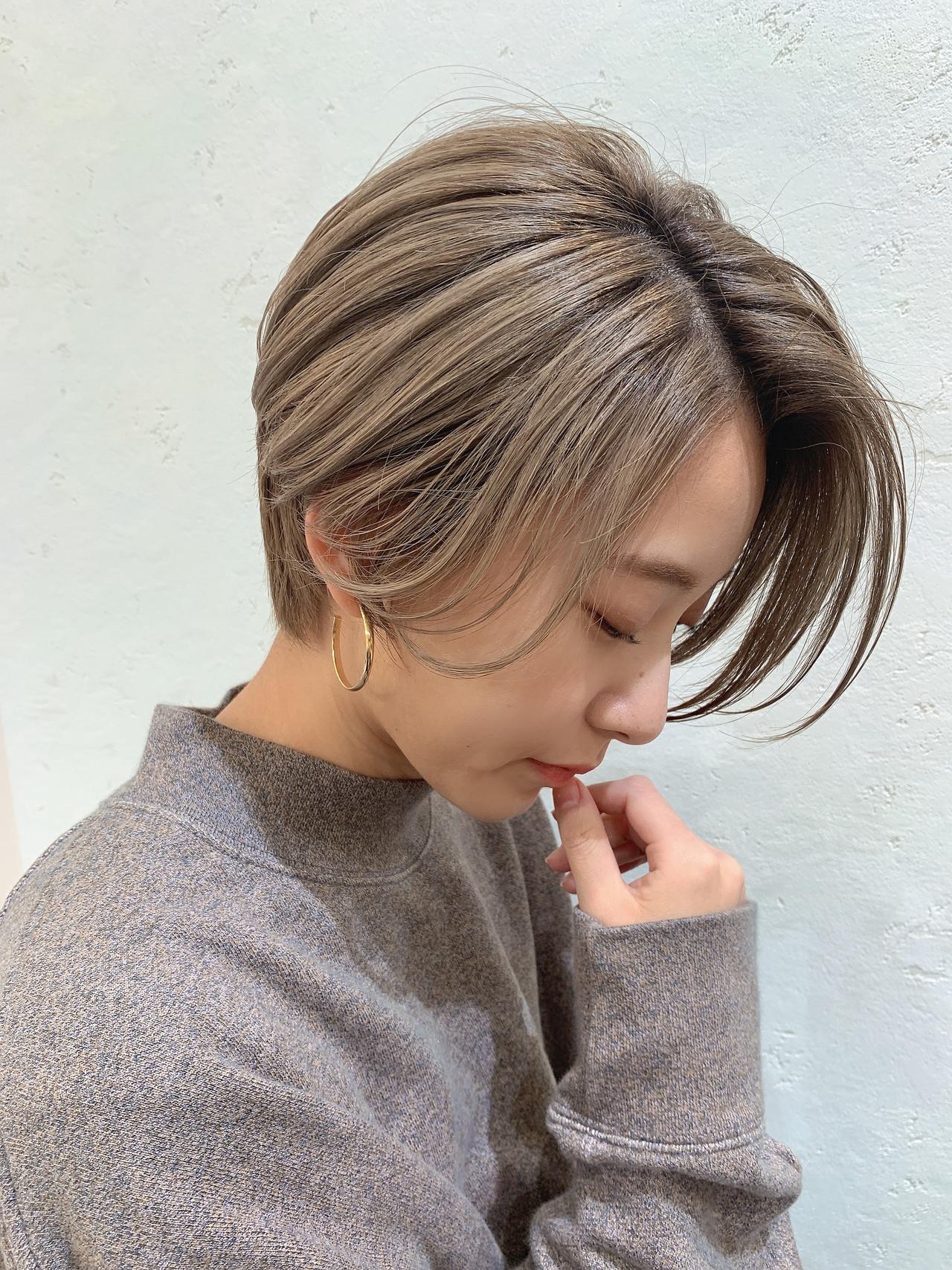 ナチュラル ショート 大人可愛い 小顔ヘア ヘアスタイルや髪型の写真・画像 | 山口 健太 / Lond ange
