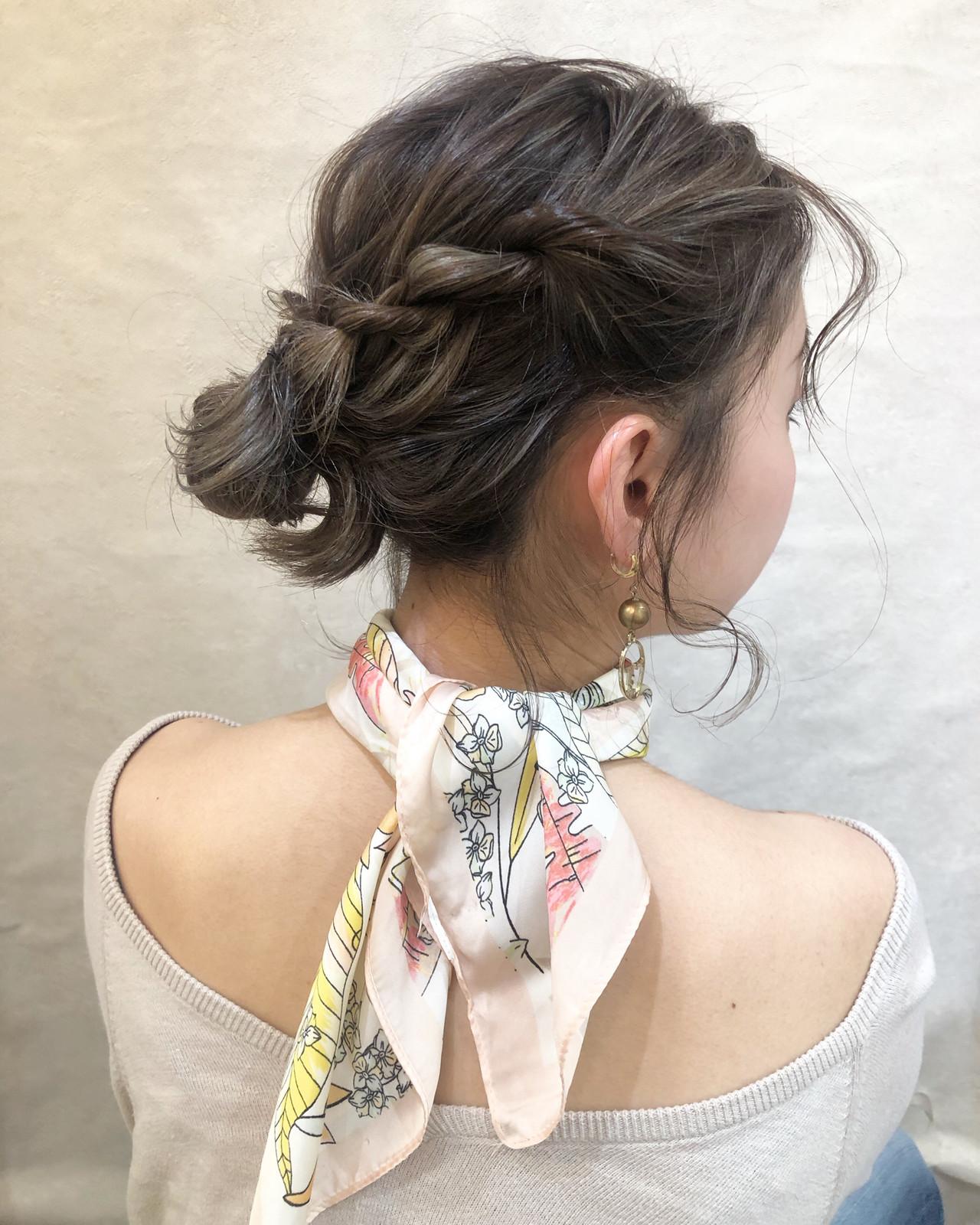 結婚式 フェミニン ボブ 簡単ヘアアレンジヘアスタイルや髪型の写真・画像
