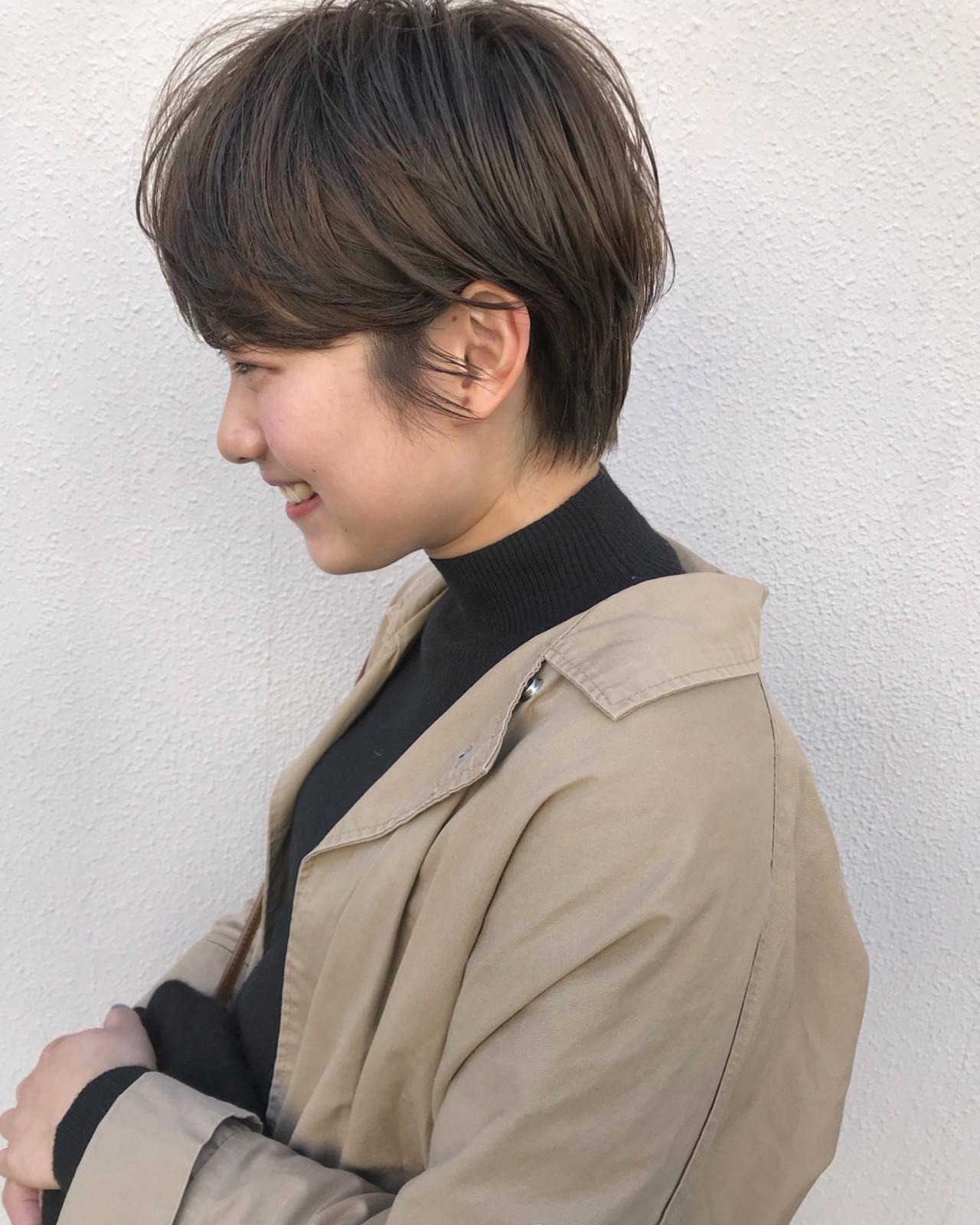 ショート ボブ 外ハネ マッシュ ヘアスタイルや髪型の写真・画像 | KENTO.NOESALON / NOE SALON