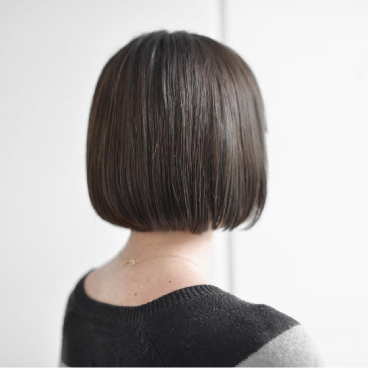 ボブ ニュアンス ミルクティー ナチュラル ヘアスタイルや髪型の写真・画像 | yuuta inoue/vicca 'ekolu / vicca 'ekolu