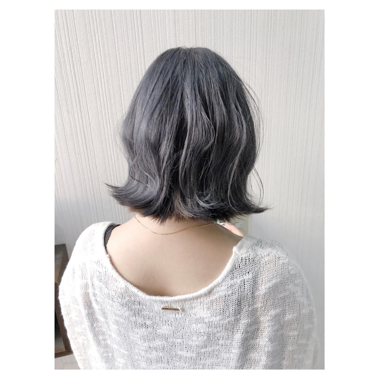 ヘアアレンジ デート ミディアム 外国人風カラー ヘアスタイルや髪型の写真・画像 | クラ / TOMCAT