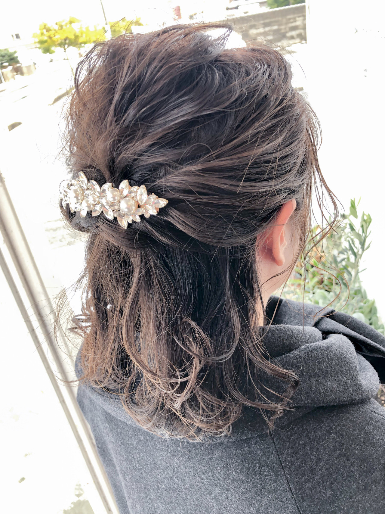 アンニュイほつれヘア ミディアム フェミニン 結婚式 ヘアスタイルや髪型の写真・画像 | 大西 つねお /  ELMO