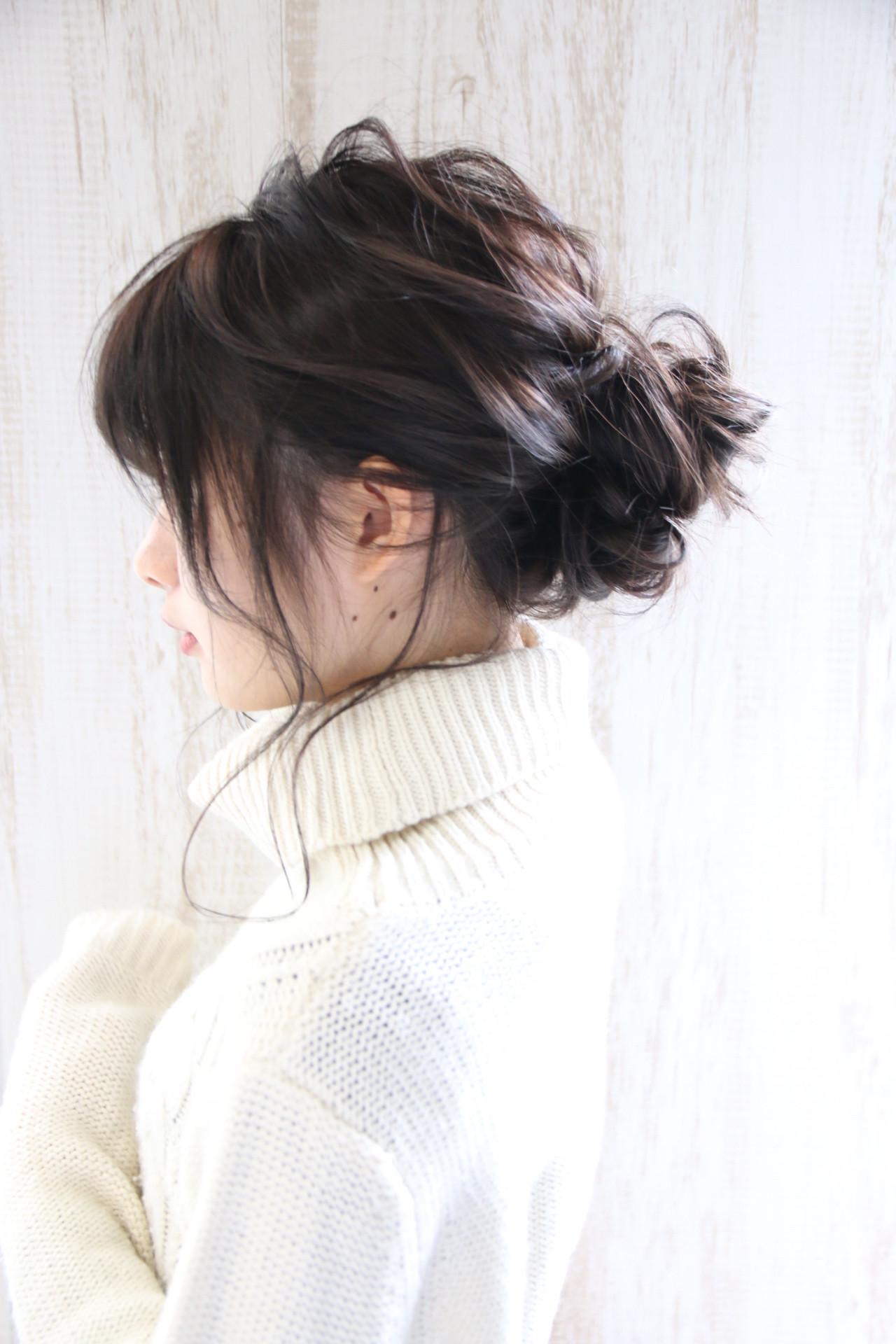 大人かわいい 透明感 ヘアアレンジ 簡単ヘアアレンジヘアスタイルや髪型の写真・画像