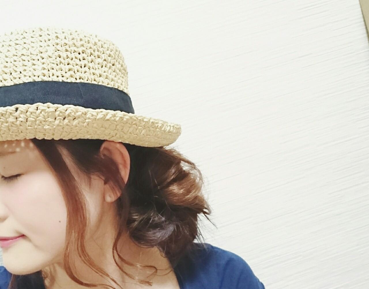 ロング 簡単ヘアアレンジ ショート フェミニンヘアスタイルや髪型の写真・画像