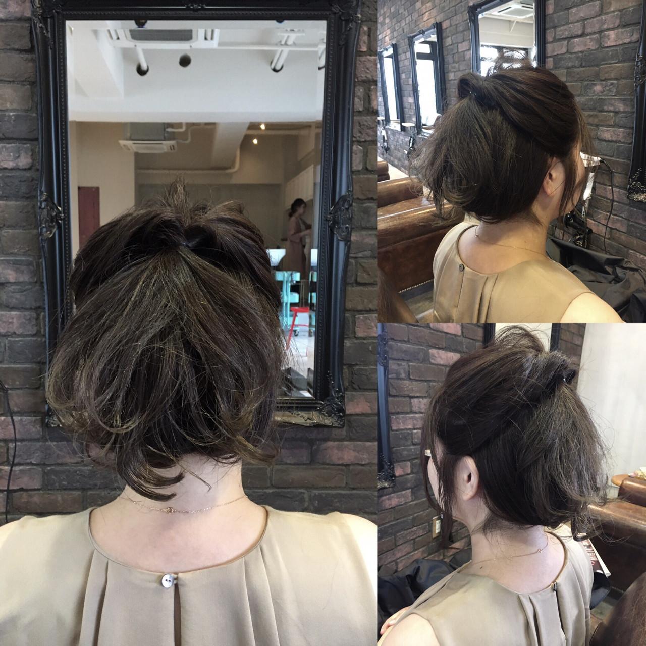大人女子 ヘアアレンジ ショート 簡単ヘアアレンジ ヘアスタイルや髪型の写真・画像 | 松尾謙佑 / cielo