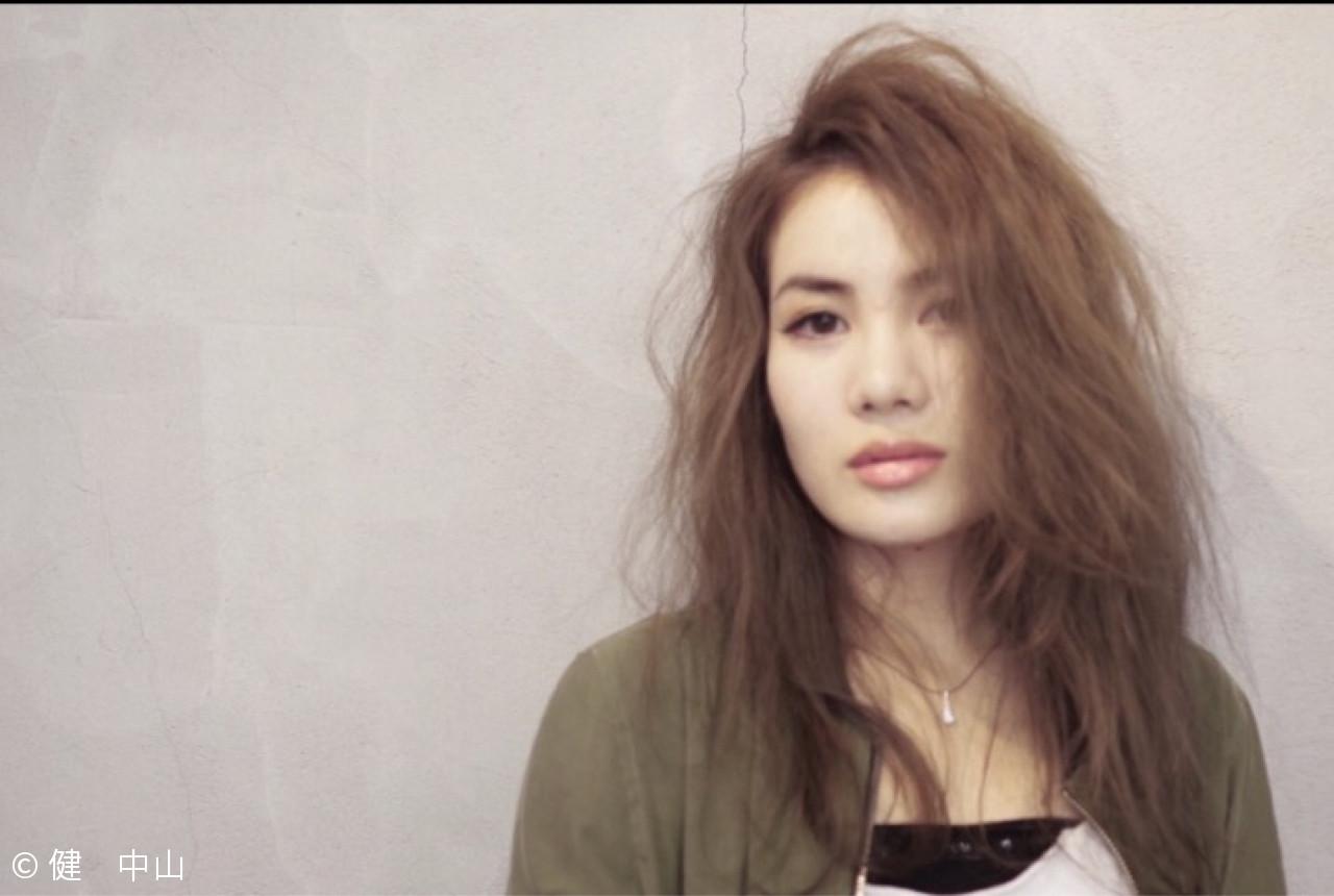 アッシュ かっこいい ロング ウェーブ ヘアスタイルや髪型の写真・画像 | ken / sora