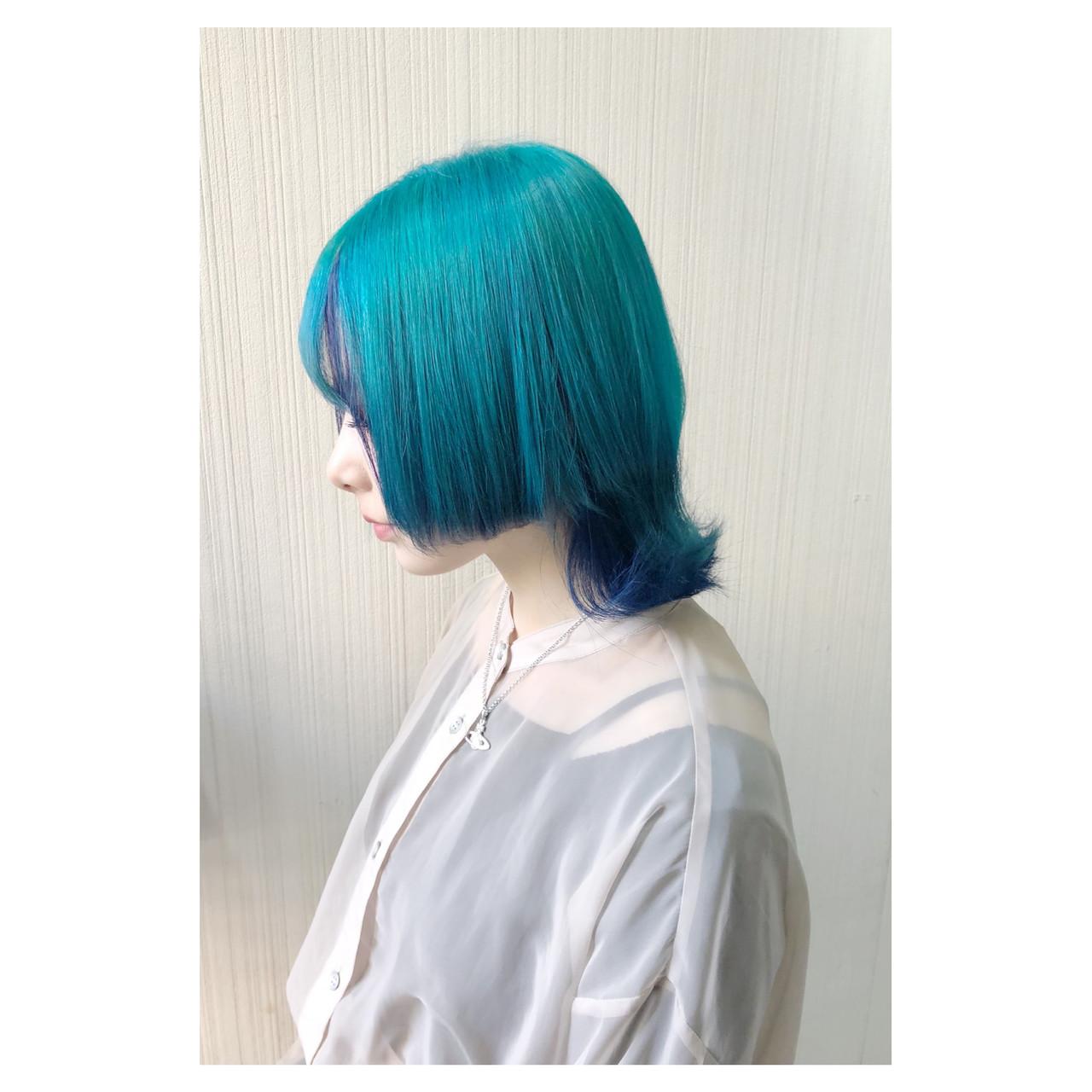 フェミニン セミロング ゆるふわ アッシュ ヘアスタイルや髪型の写真・画像 | クラ / TOMCAT