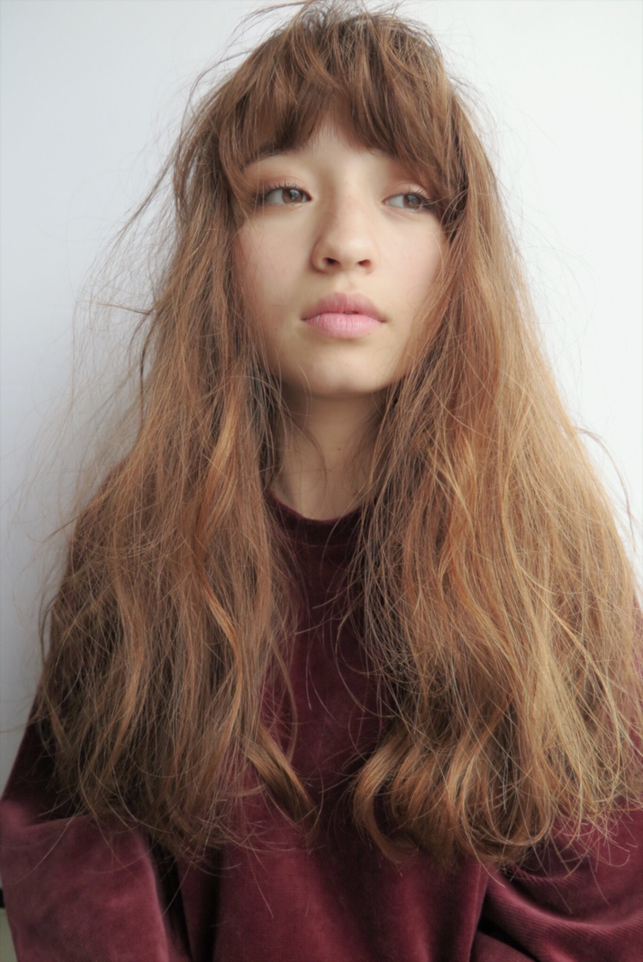 ハイライト アッシュ 小顔 パーマ ヘアスタイルや髪型の写真・画像 | chiaki / magnet hair