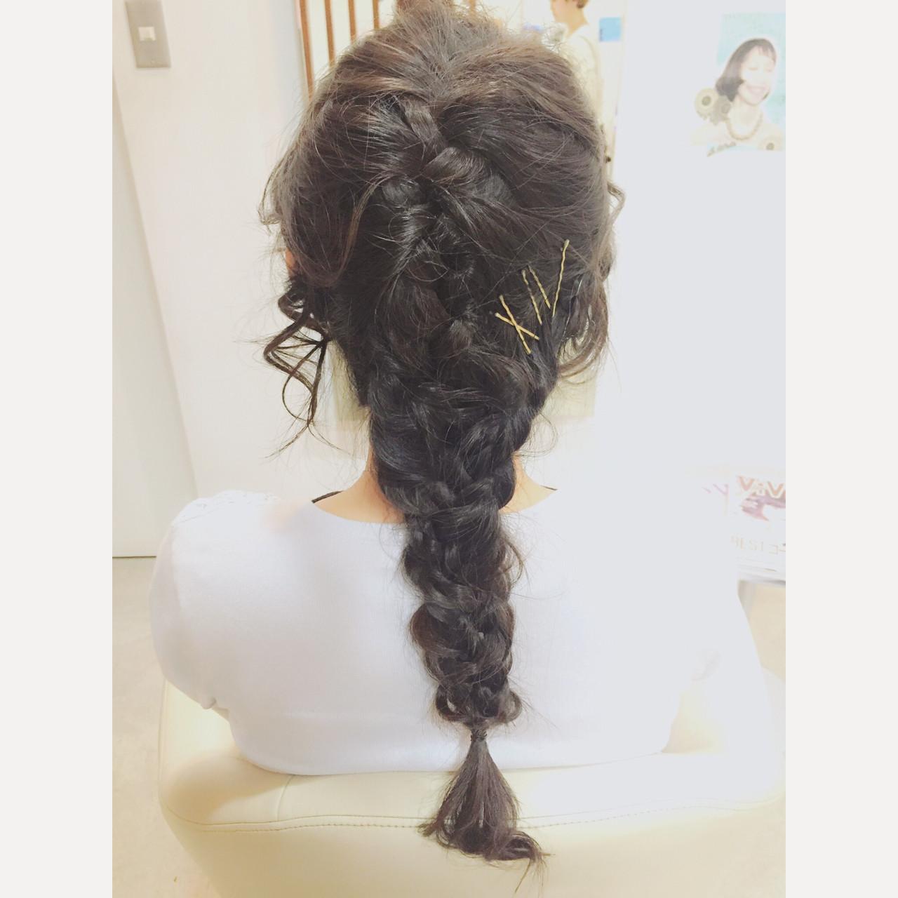 ショート 簡単ヘアアレンジ ロング フェミニン ヘアスタイルや髪型の写真・画像   牧 美幸 / Julia by BEAUTY STREAM