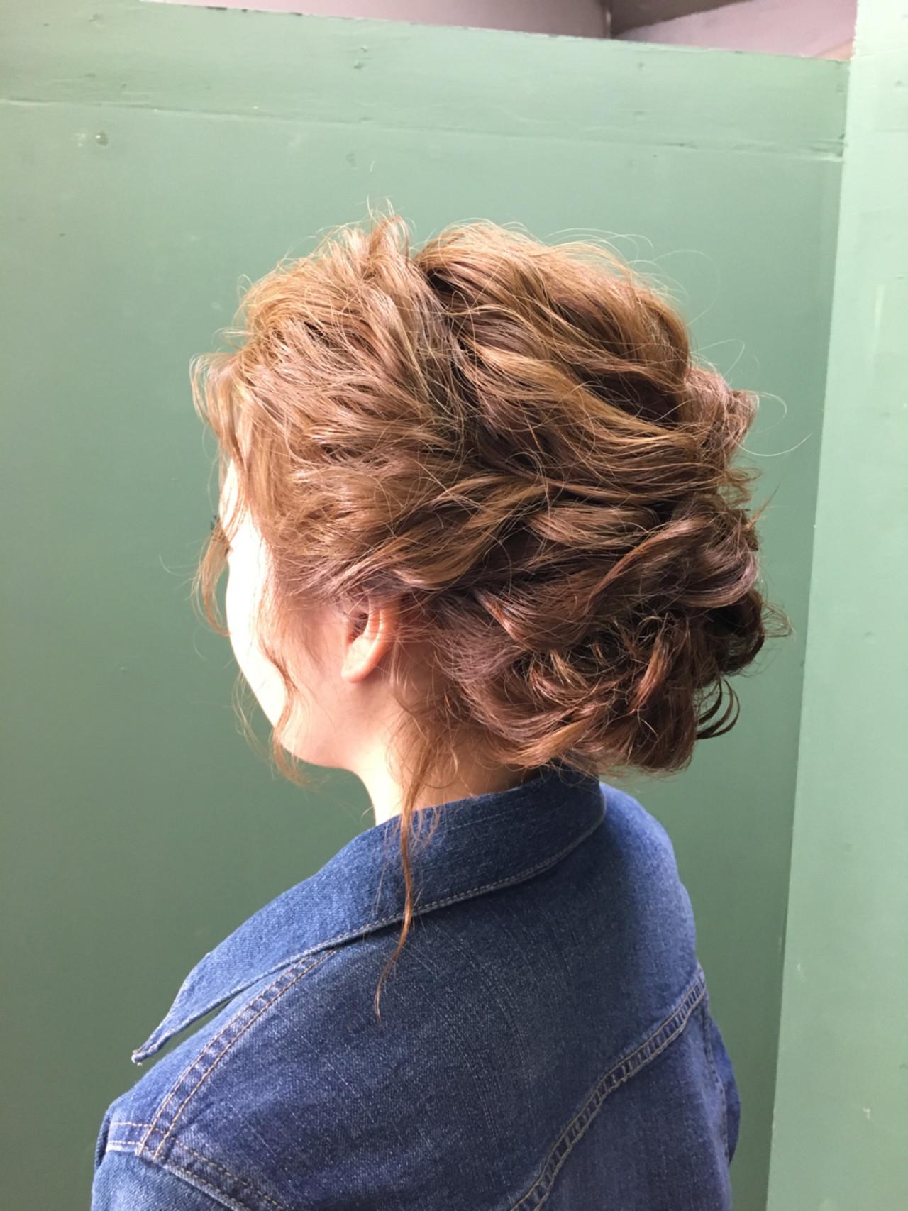 ミディアム ヘアアレンジ エレガント 和装ヘアスタイルや髪型の写真・画像