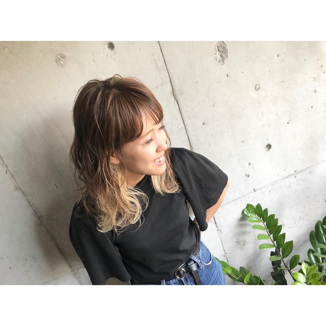 ストリート ハイトーン ゆるふわ ヘアアレンジ ヘアスタイルや髪型の写真・画像 | 玉城 瑞萌 / Haircolor&Eyelash PORT