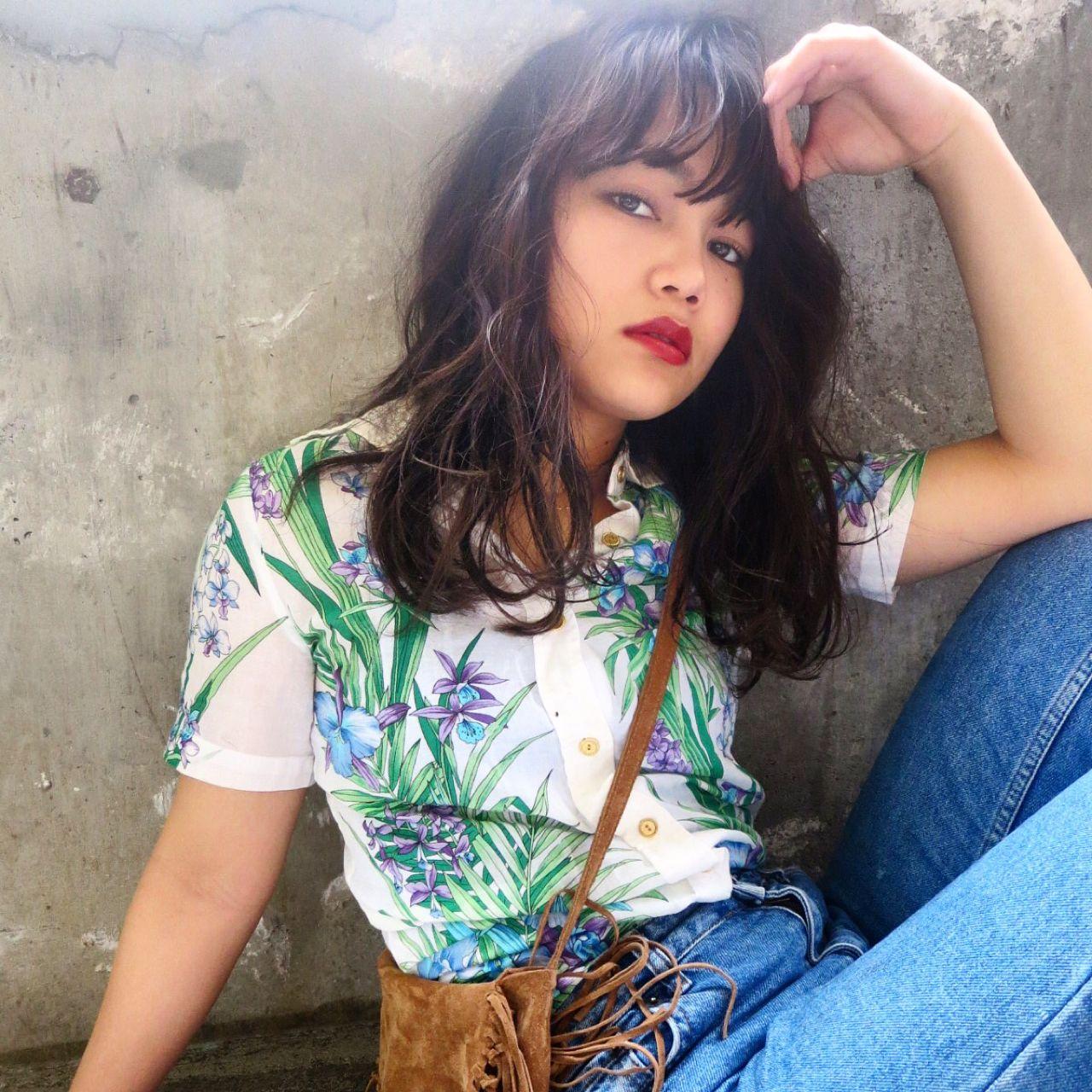 春 パンク ウェットヘア ロング ヘアスタイルや髪型の写真・画像 | oshiro mitsuko / keen