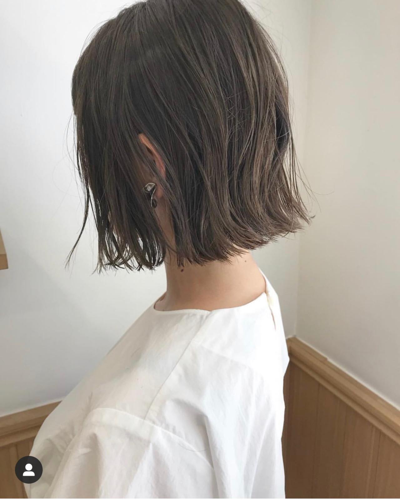 ショートヘア ショートボブ ナチュラル 切りっぱなしボブ ヘアスタイルや髪型の写真・画像 | KENTO.NOESALON / NOE SALON